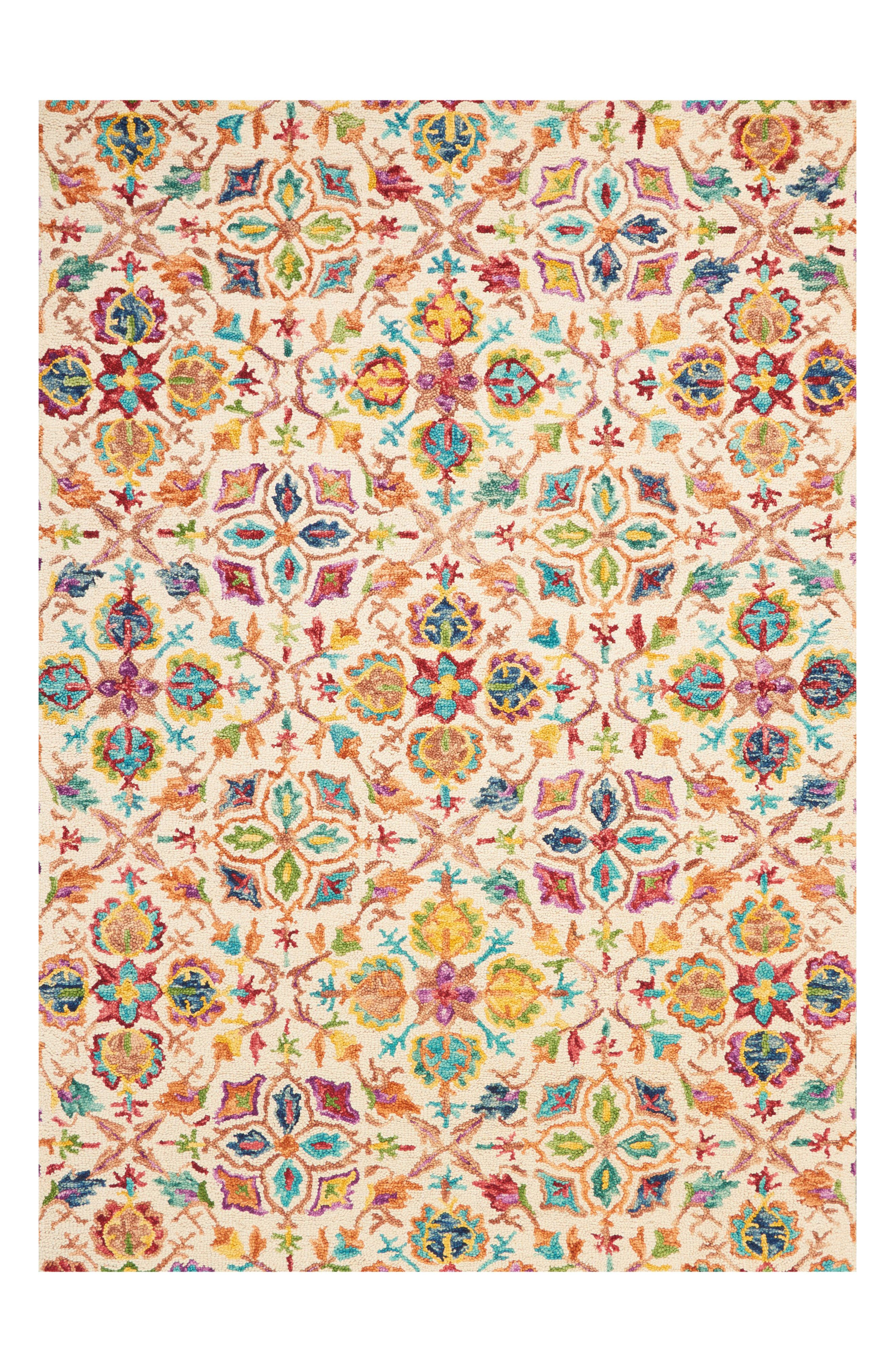 Vivid Wool Rug,                         Main,                         color, Ivory