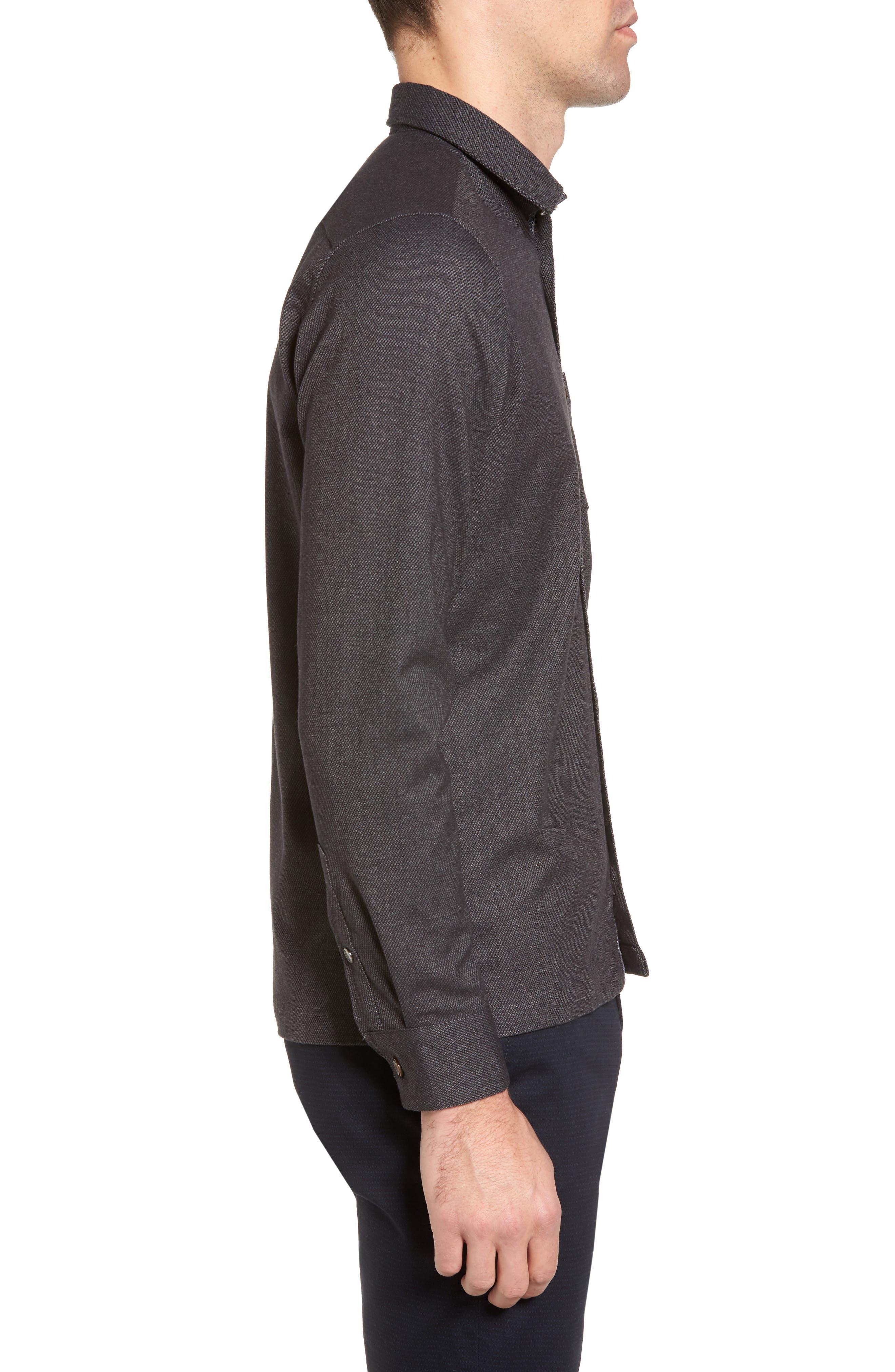 Digon Dobby Shirt,                             Alternate thumbnail 3, color,                             Grey