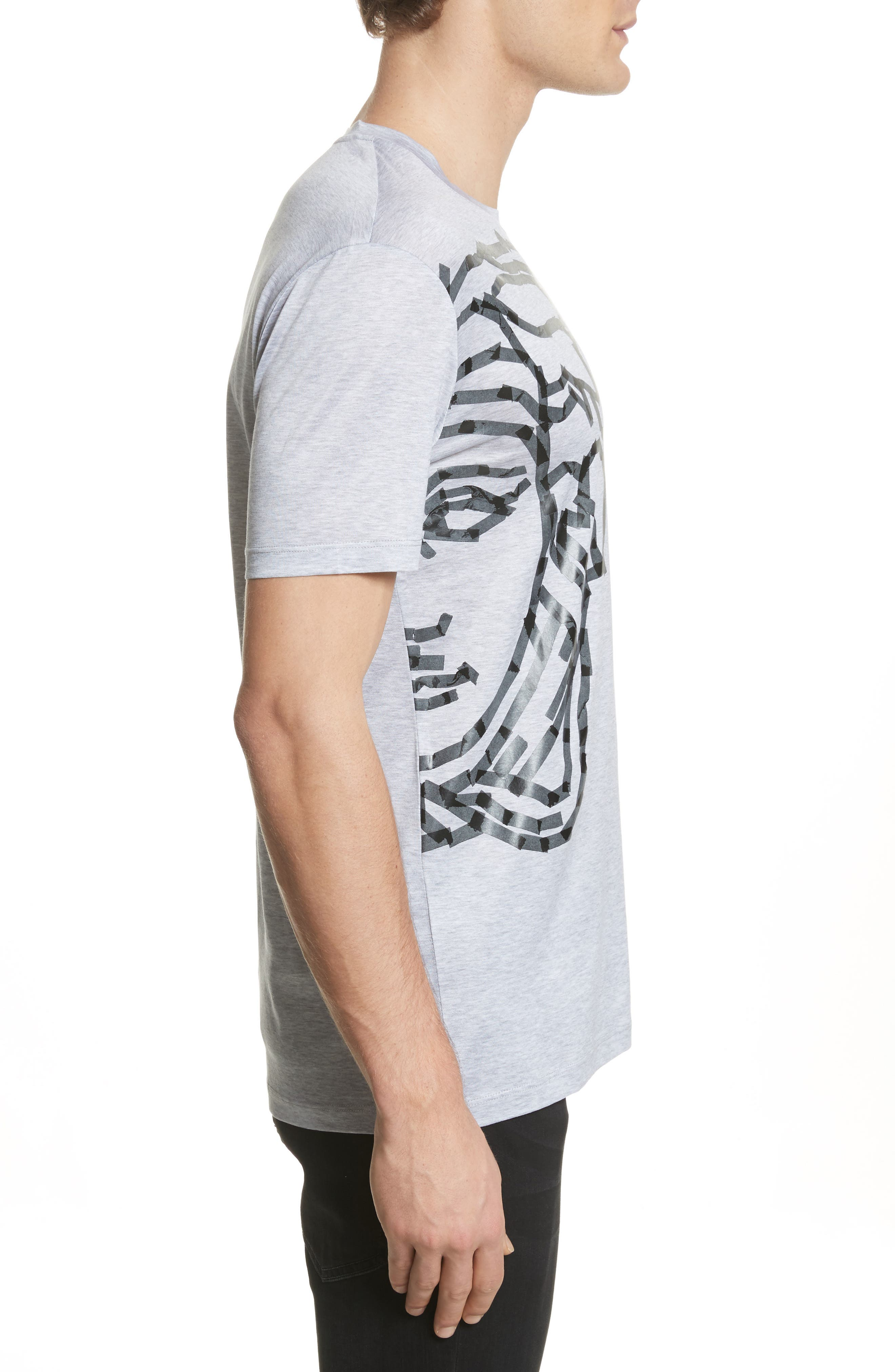 Medusa Tape Graphic T-Shirt,                             Alternate thumbnail 3, color,                             Medium Grey