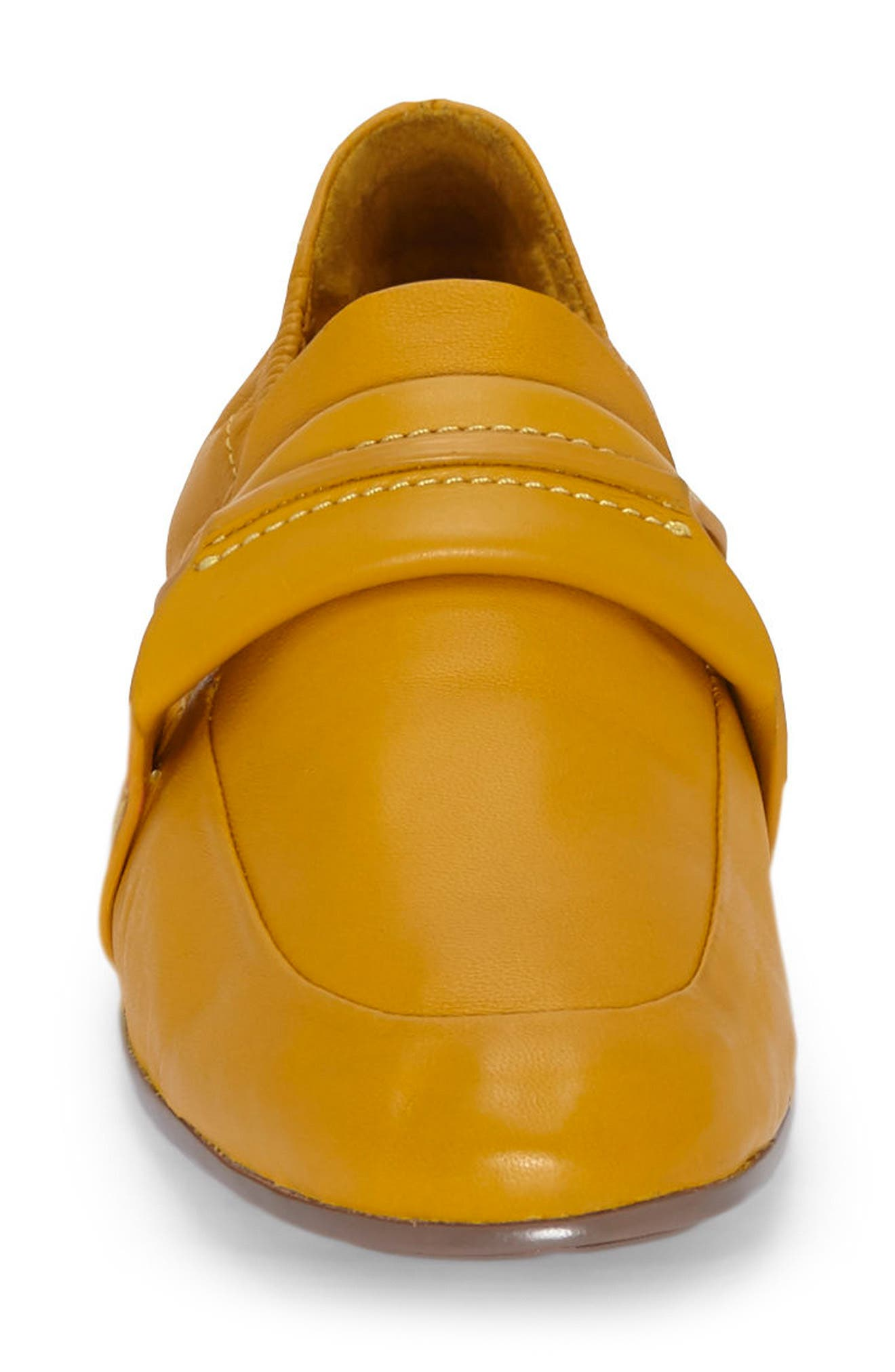 Erin Loafer Flat,                             Alternate thumbnail 3, color,                             Mustard