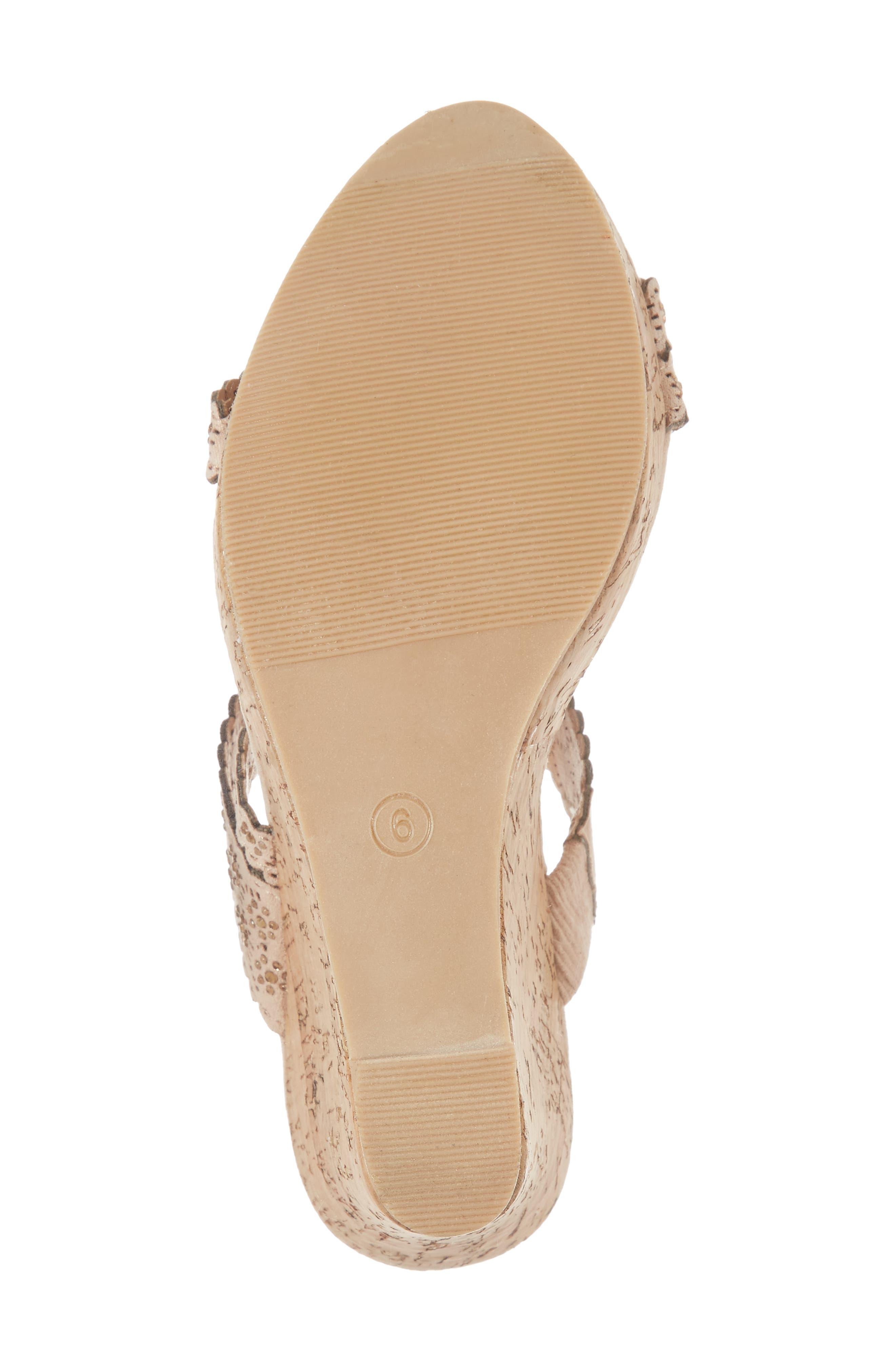 Aerin Embellished Wedge Sandal,                             Alternate thumbnail 6, color,                             Blush Suede