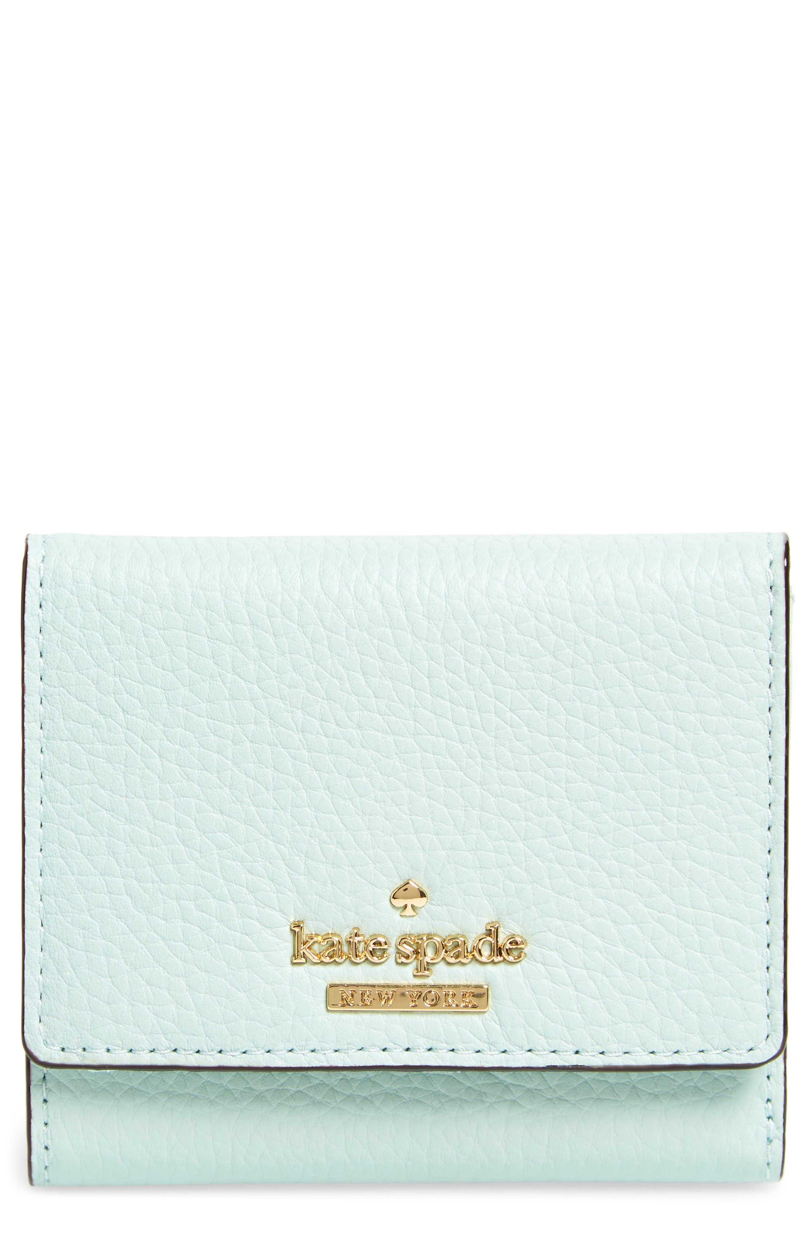 jackson street jada leather wallet,                             Main thumbnail 1, color,                             Misty Mint