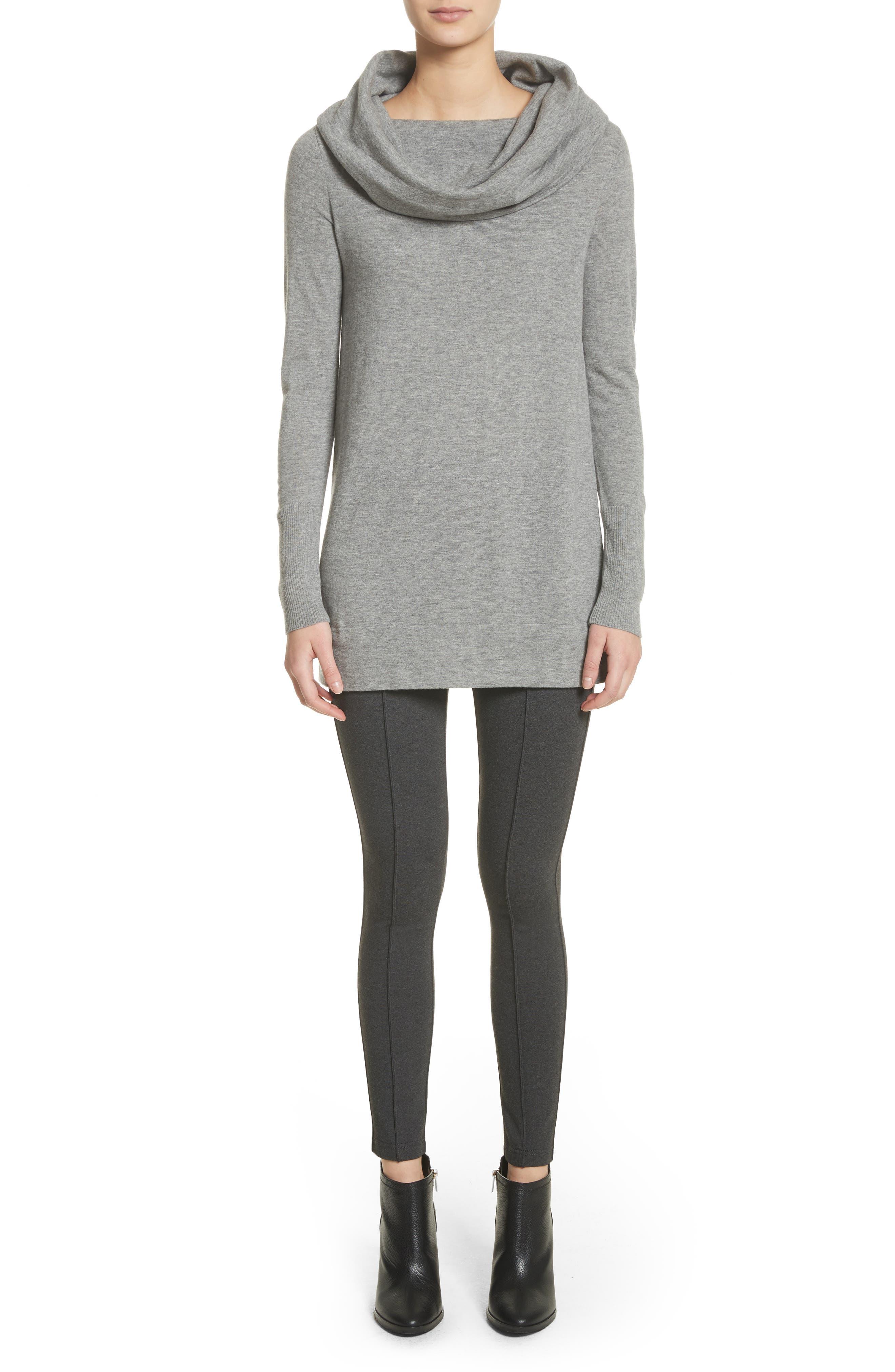 Convertible Off the Shoulder Sweater,                             Alternate thumbnail 7, color,                             Nickel Melange