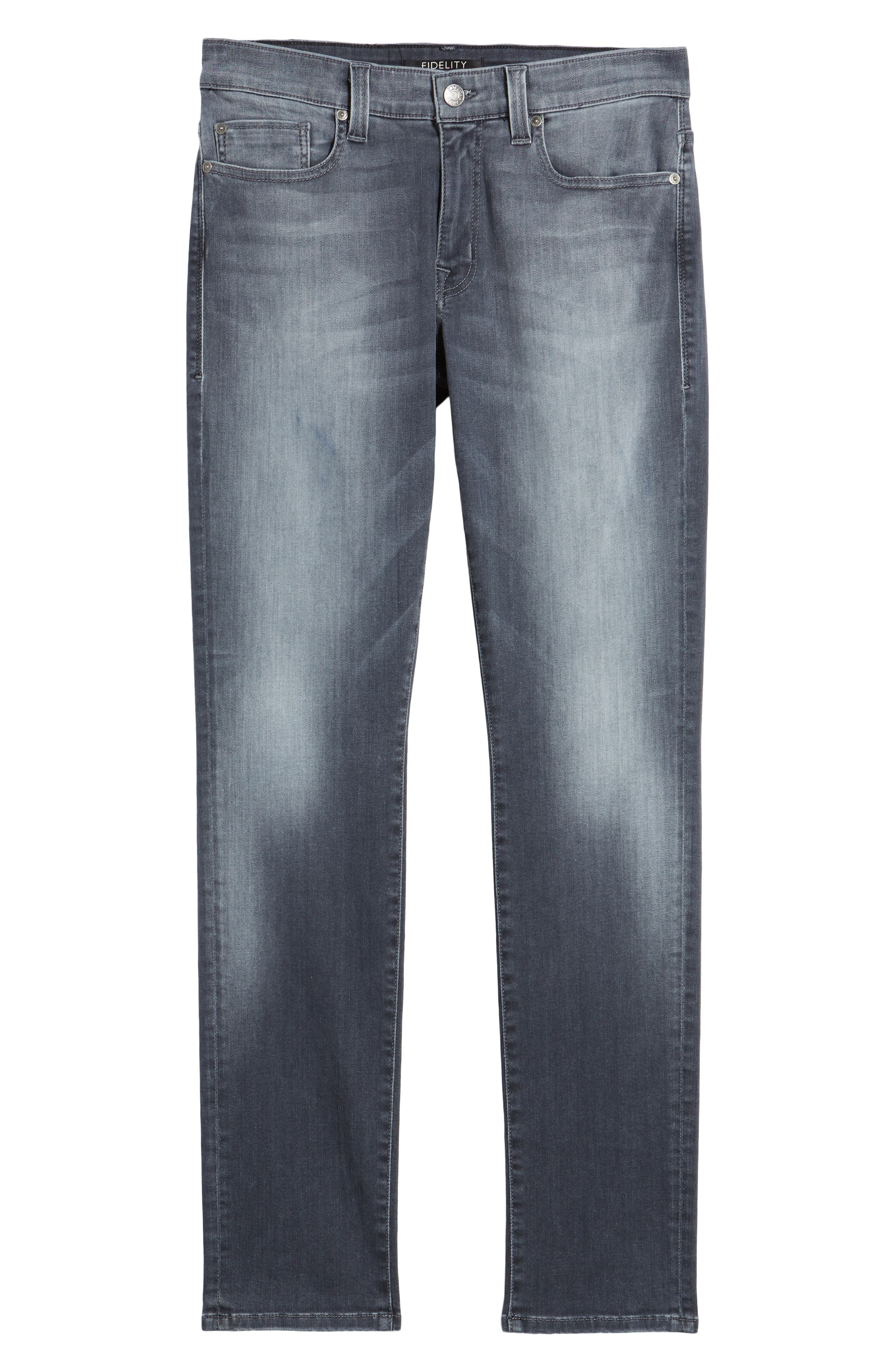 Alternate Image 6  - Fidelity Denim Torino Slim Fit Jeans (Fade To Grey)