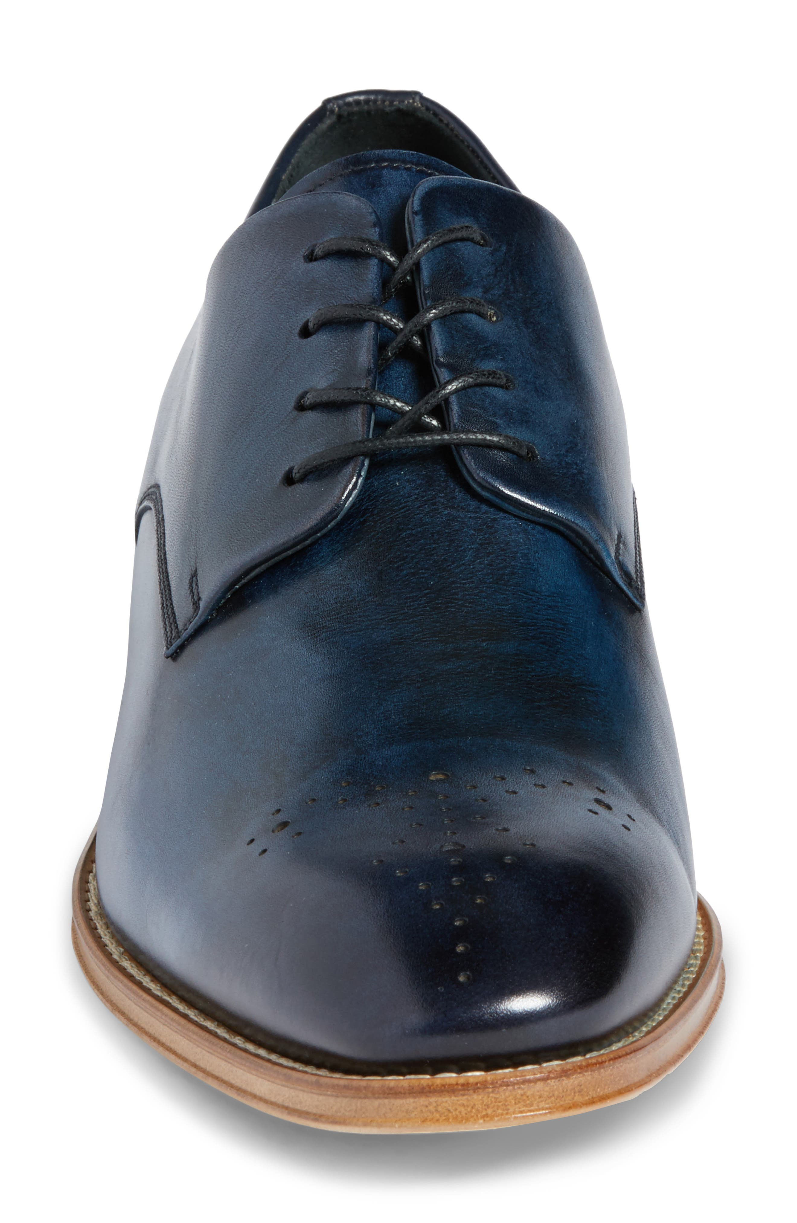 Alessandro Derby,                             Alternate thumbnail 4, color,                             Navy Leather