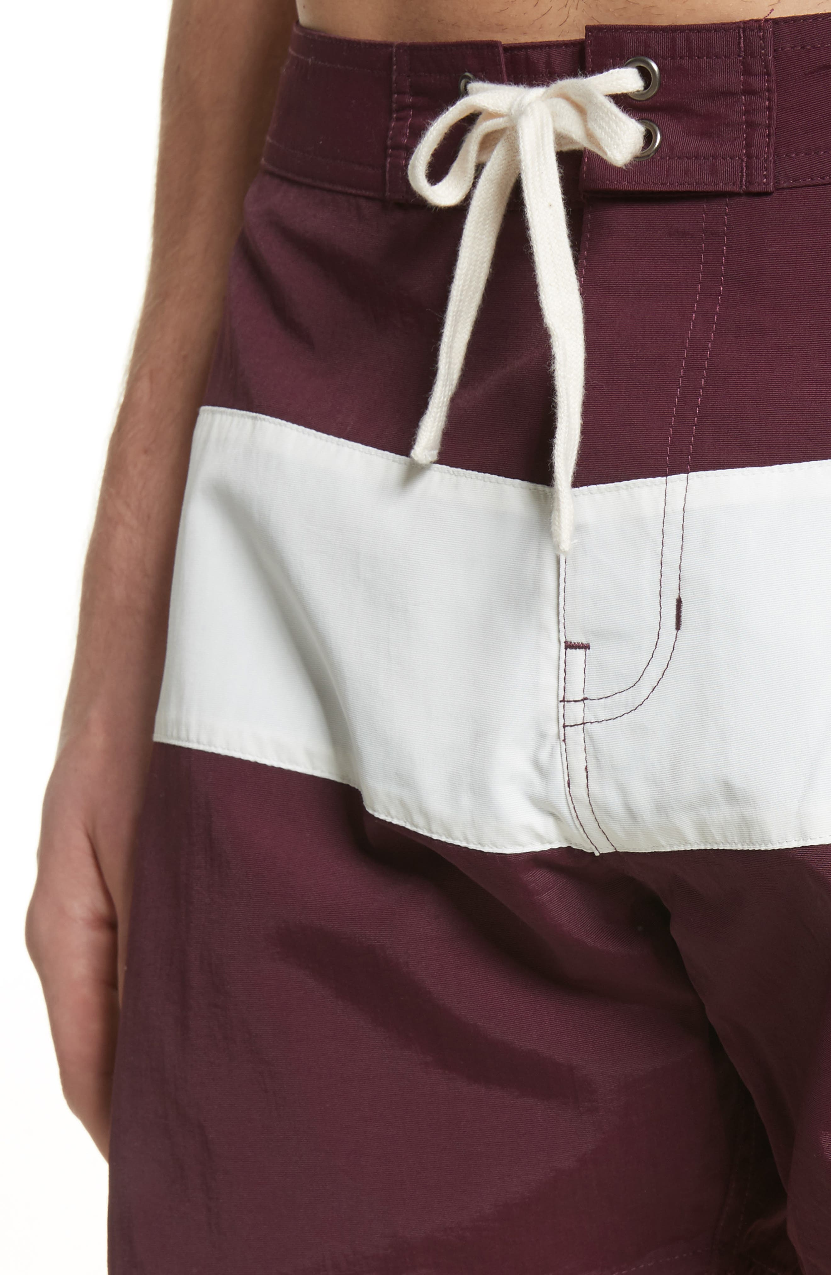 Grant Board Shorts,                             Alternate thumbnail 4, color,                             Dark Mauve/Ivory