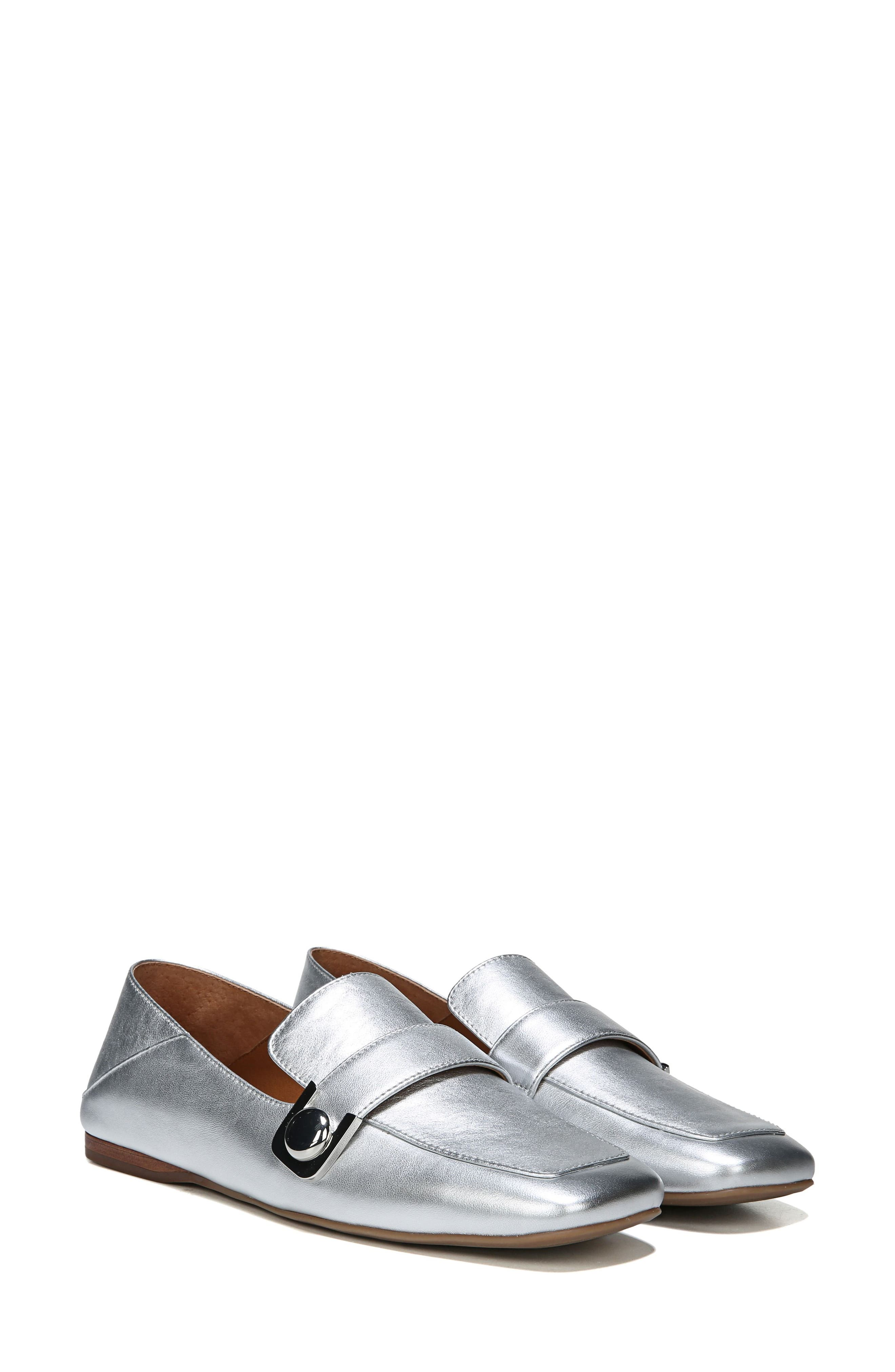 Valeres Loafer,                             Alternate thumbnail 2, color,                             Silver Metallic Leather