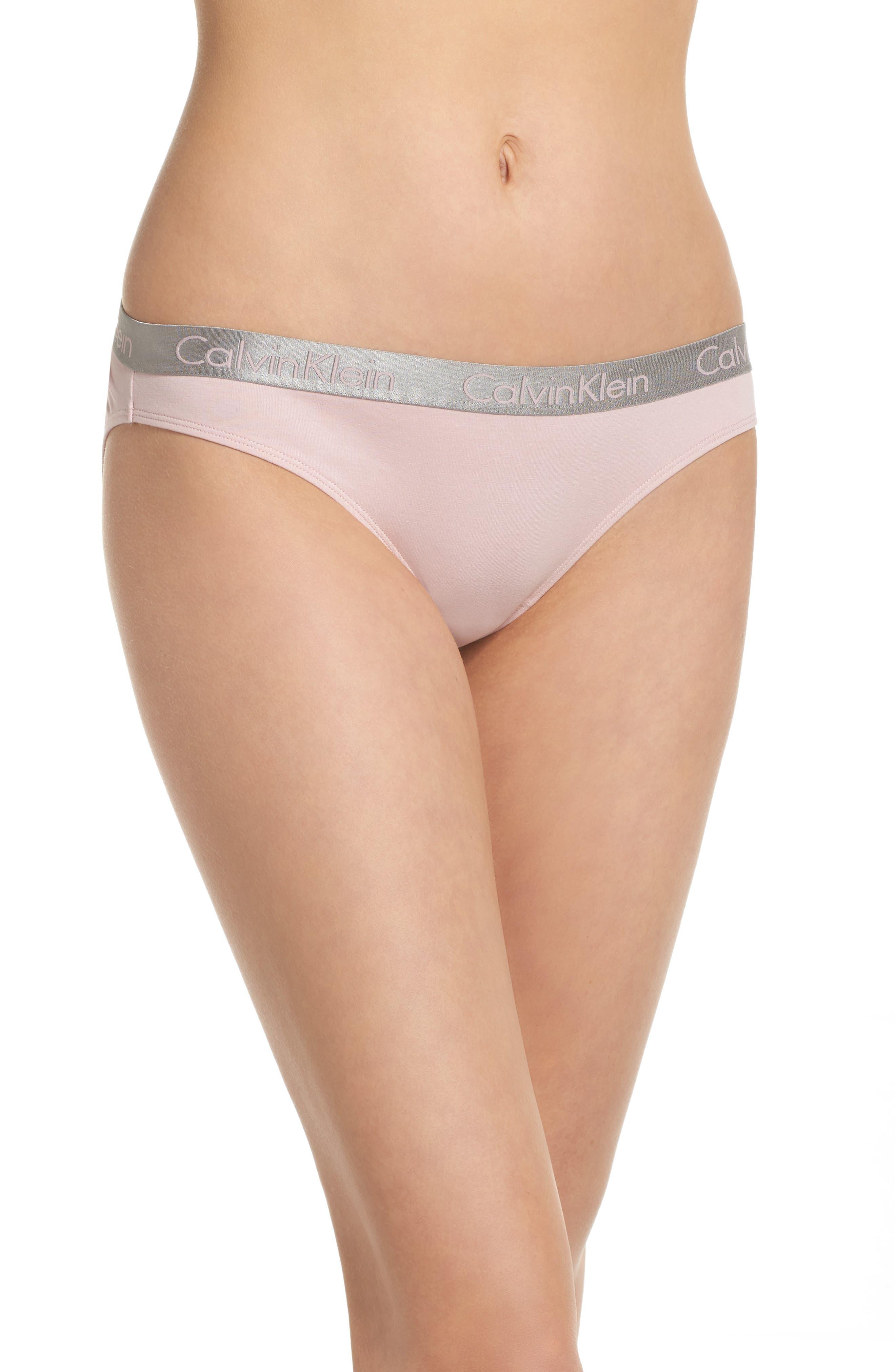 Alternate Image 1 Selected - Calvin Klein 'Radiant' Cotton Bikini (3 for $33)