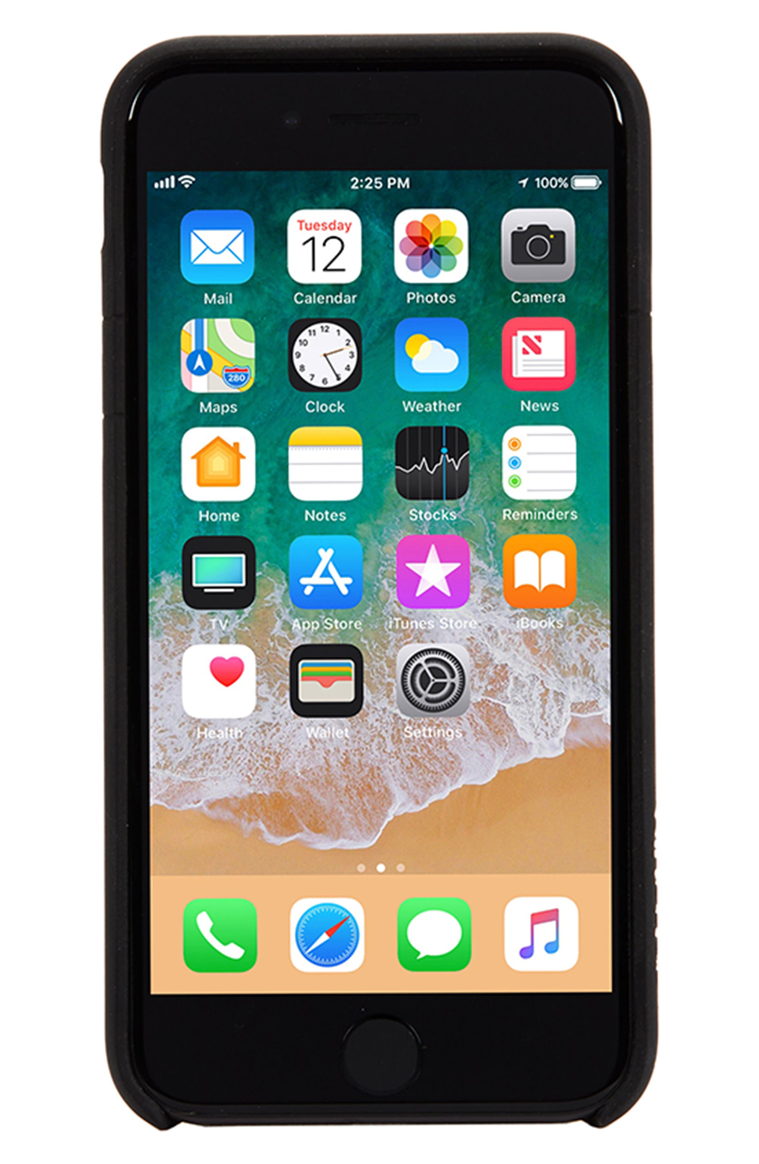 Facet iPhone 7/8 Case,                             Alternate thumbnail 2, color,                             Black