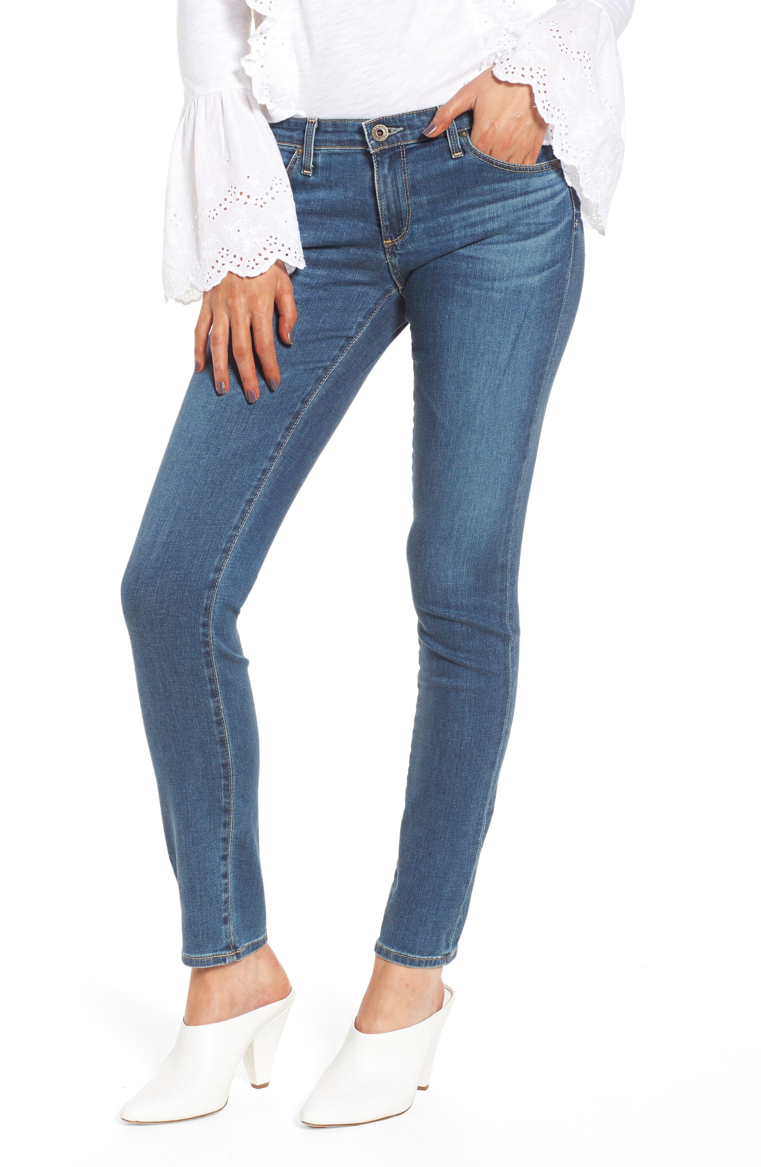 Main Image - AG The Stilt Cigarette Leg Jeans (Serendipitous)