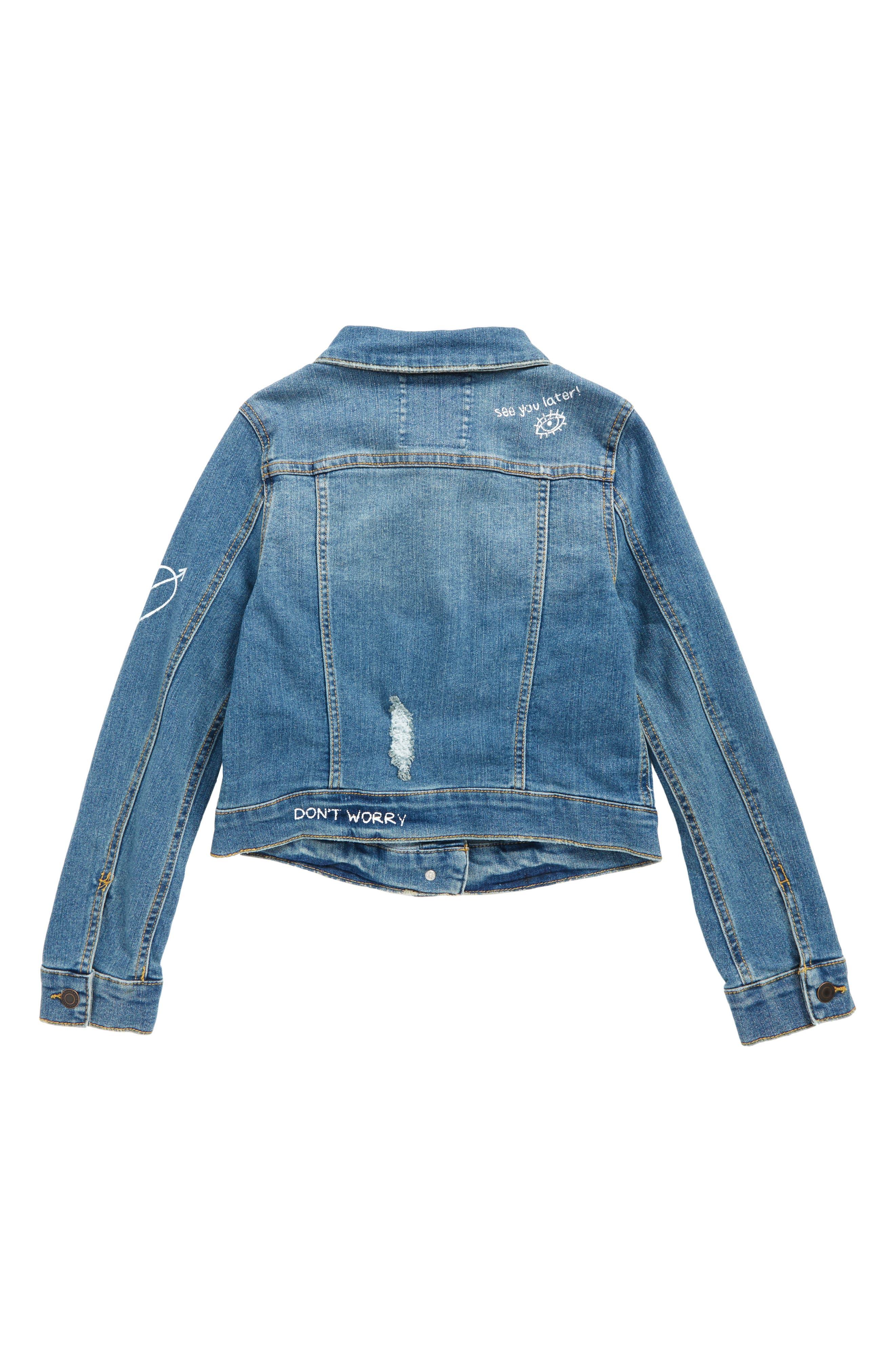 Alternate Image 2  - Tucker + Tate Conversational Denim Jacket (Big Girls)
