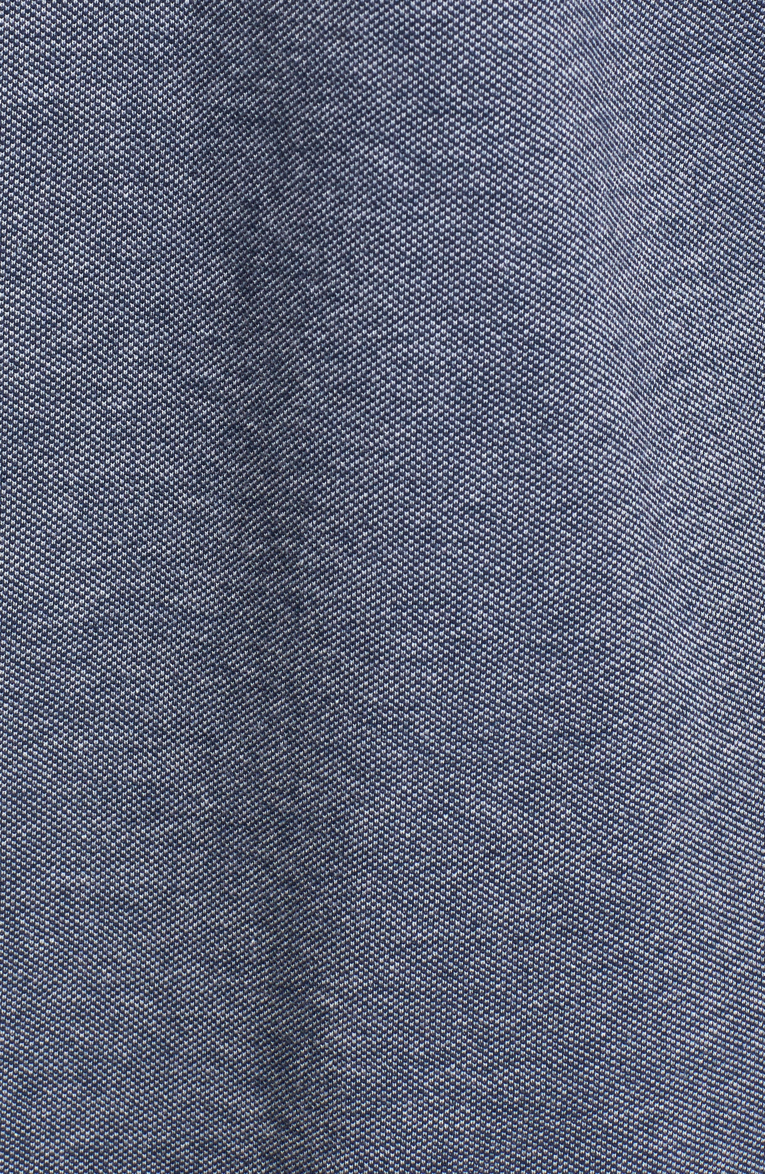 Scafell Regular Fit Solid Sport Shirt,                             Alternate thumbnail 5, color,                             Navy