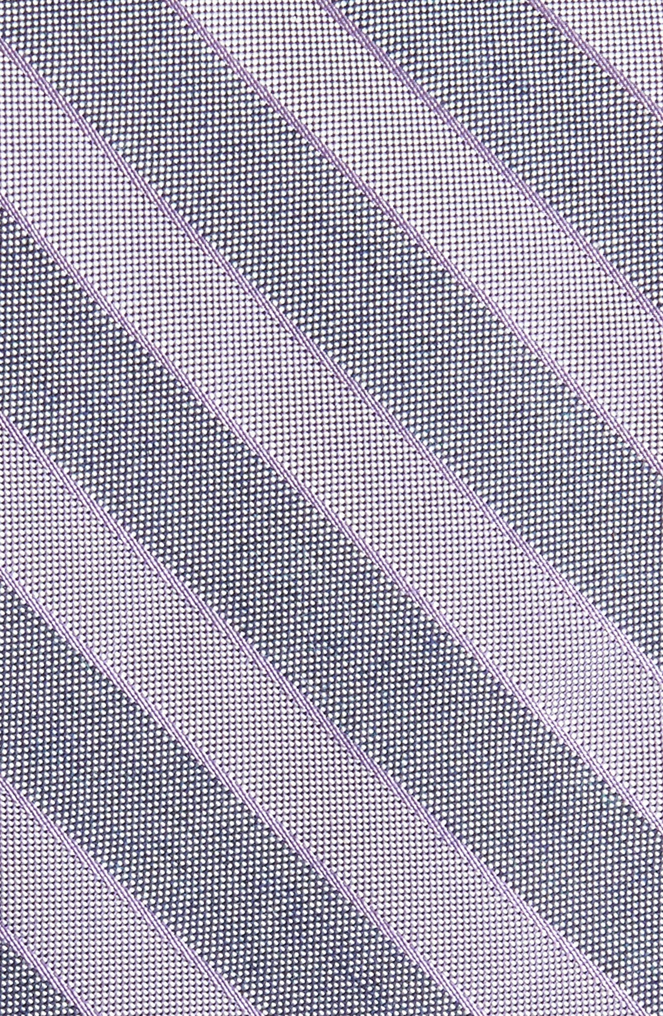 Stripe Silk Blend Skinny Tie,                             Alternate thumbnail 2, color,                             Purple