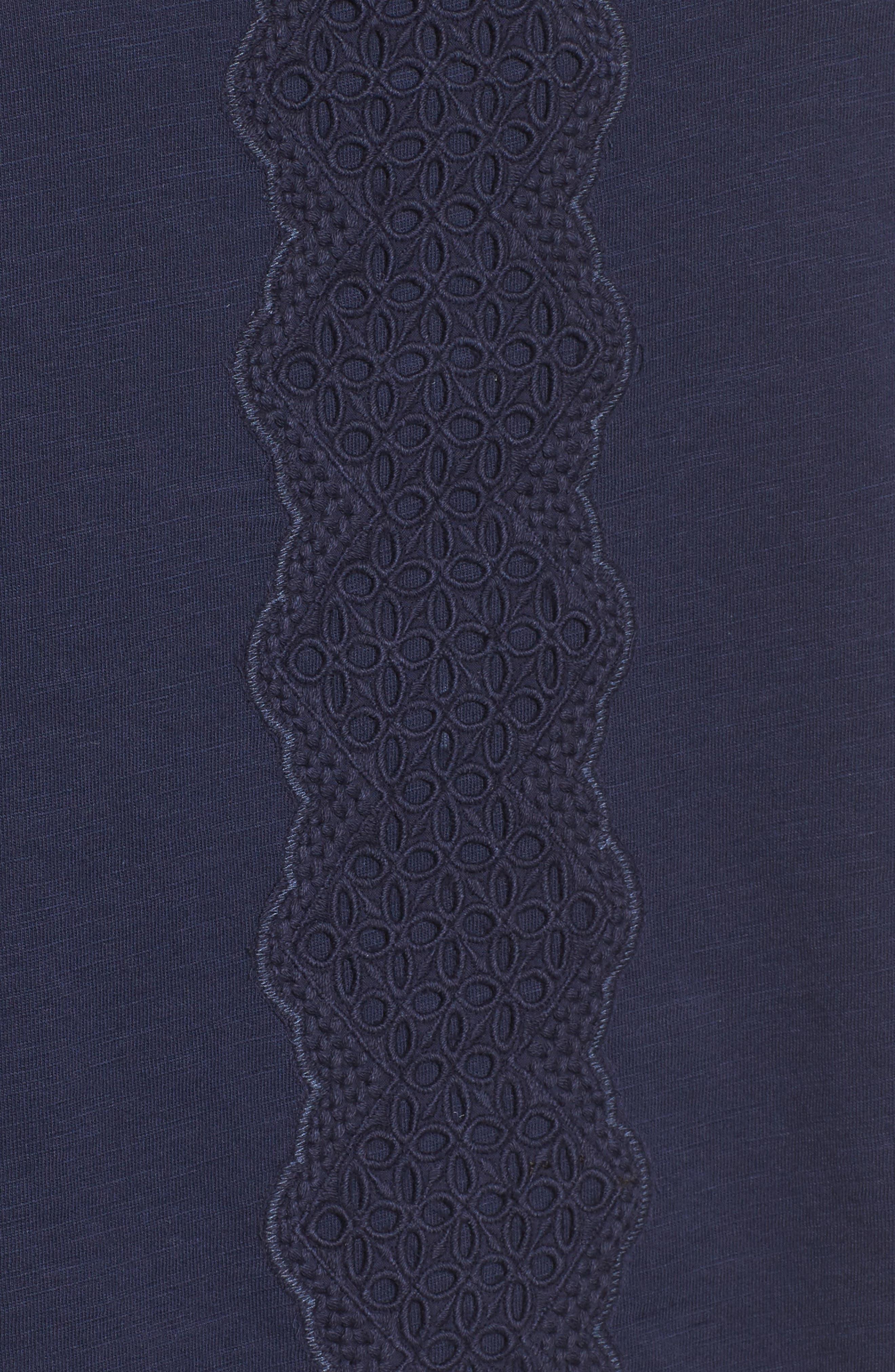 Alternate Image 5  - Caslon® Eyelet Bell Sleeve Top (Regular & Petite)