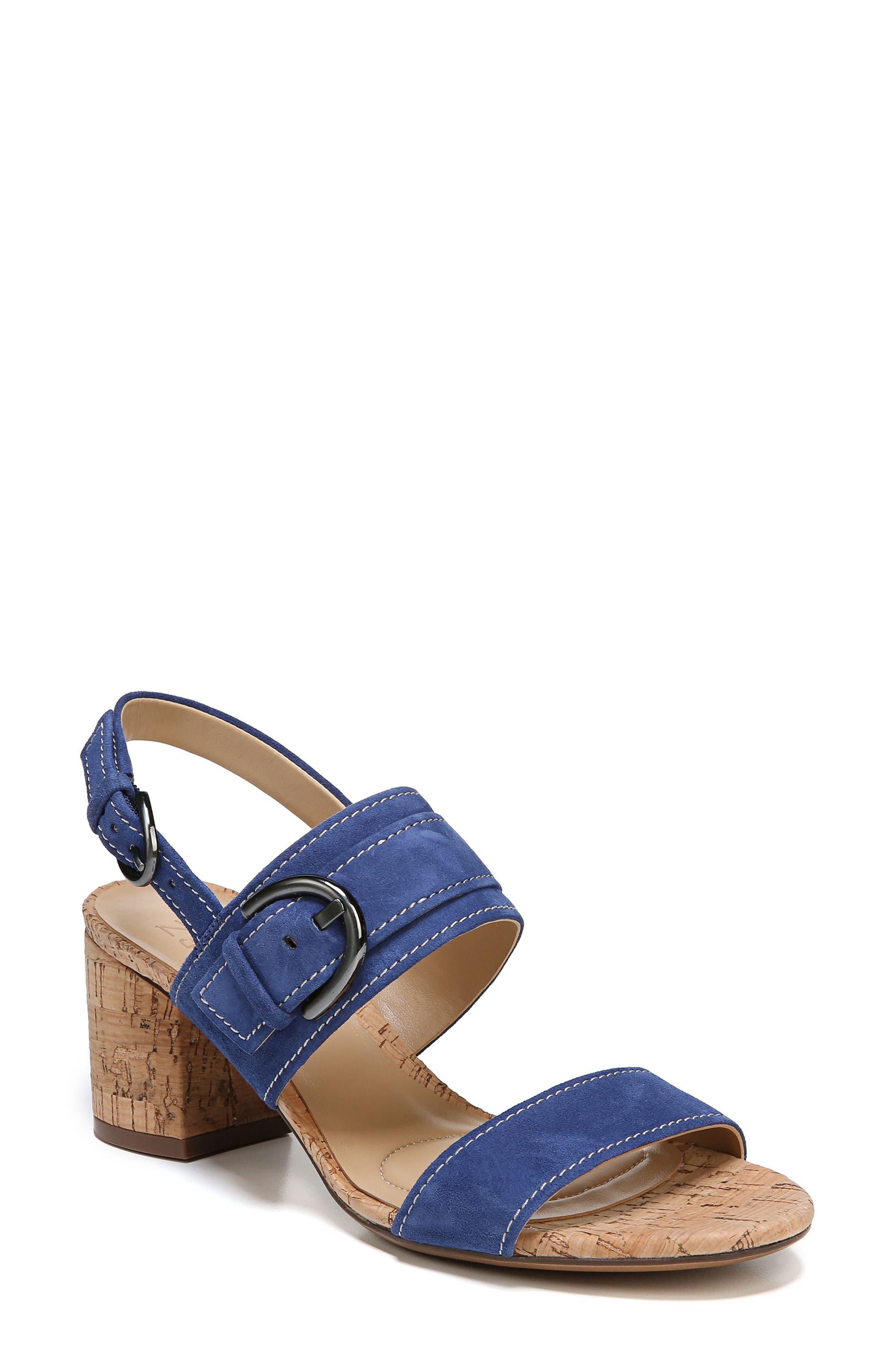 Camden Sandal,                         Main,                         color, Blue Suede