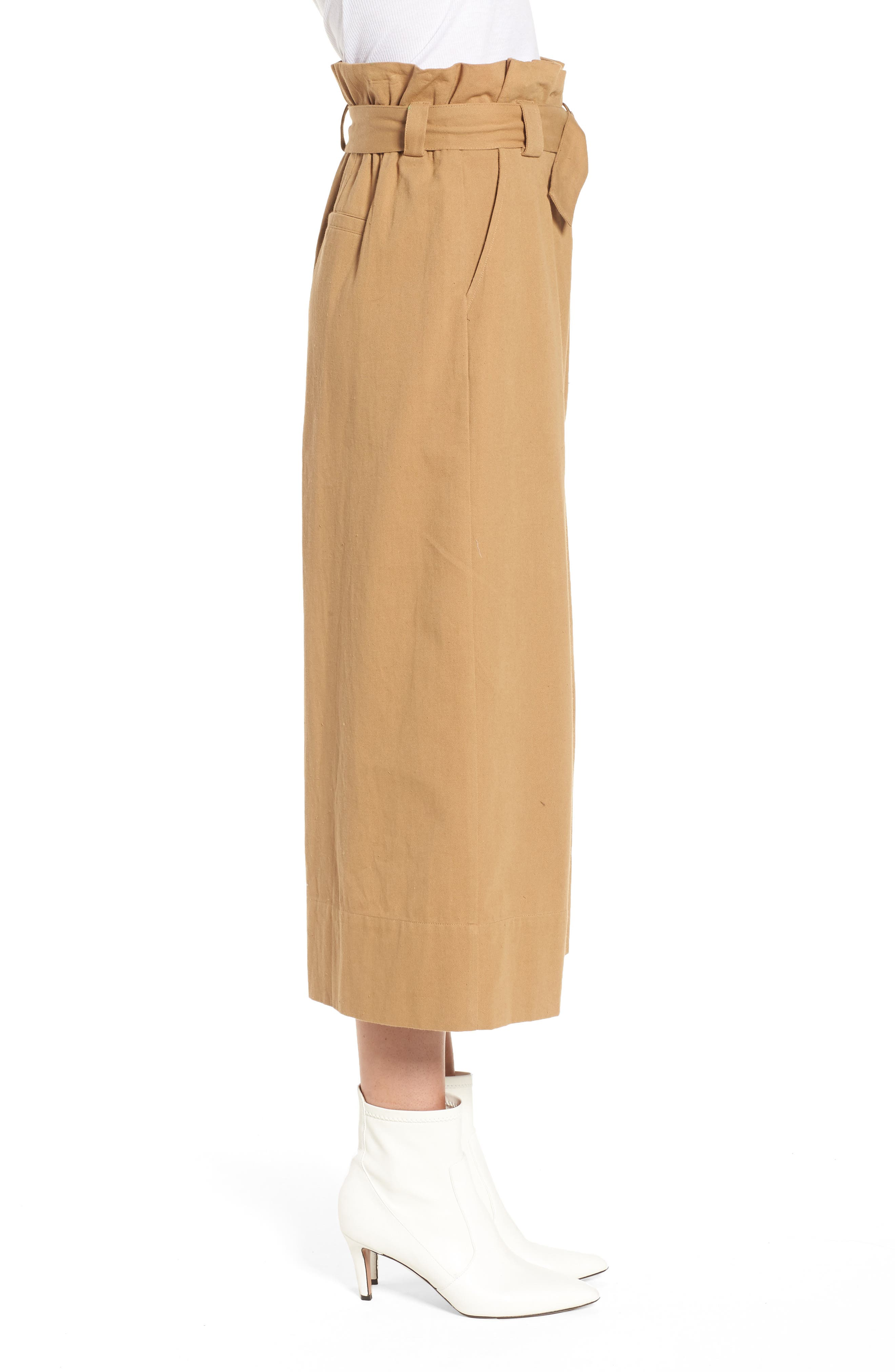 Alternate Image 3  - Paperbag Waist Crop Pants