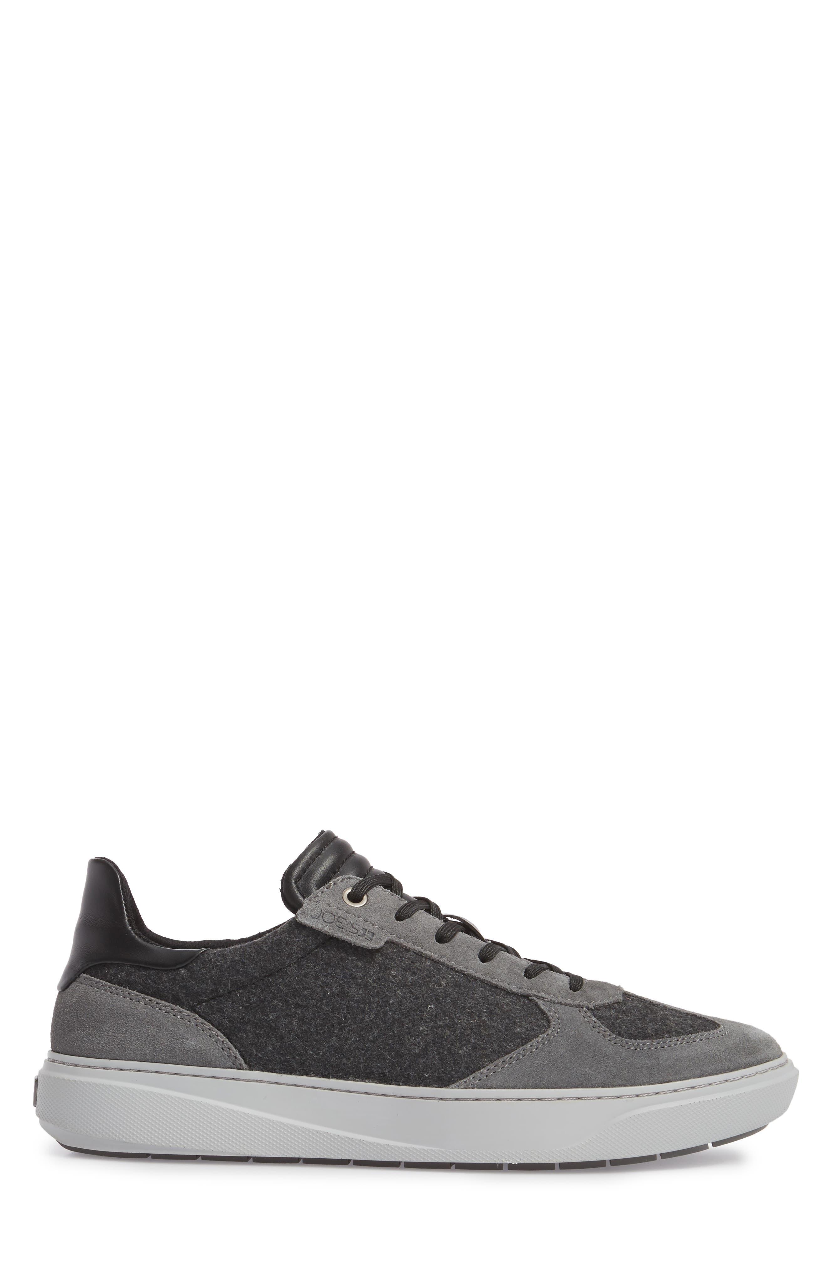 Mo Joe Sneaker,                             Alternate thumbnail 3, color,                             Charcoal Wool/ Suede
