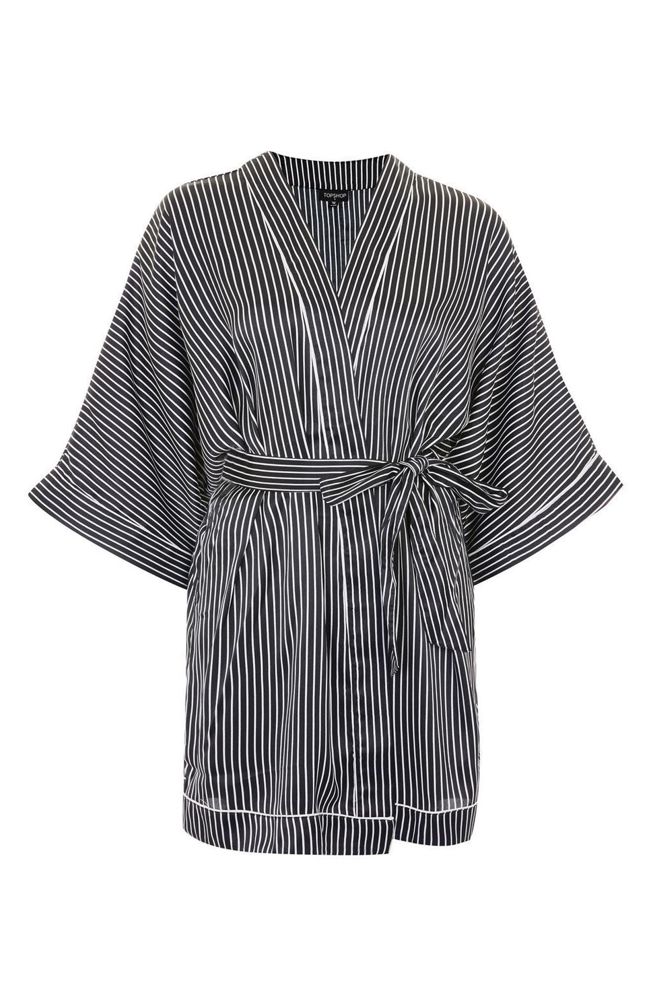 Alternate Image 3  - Topshop Stripe Satin Robe