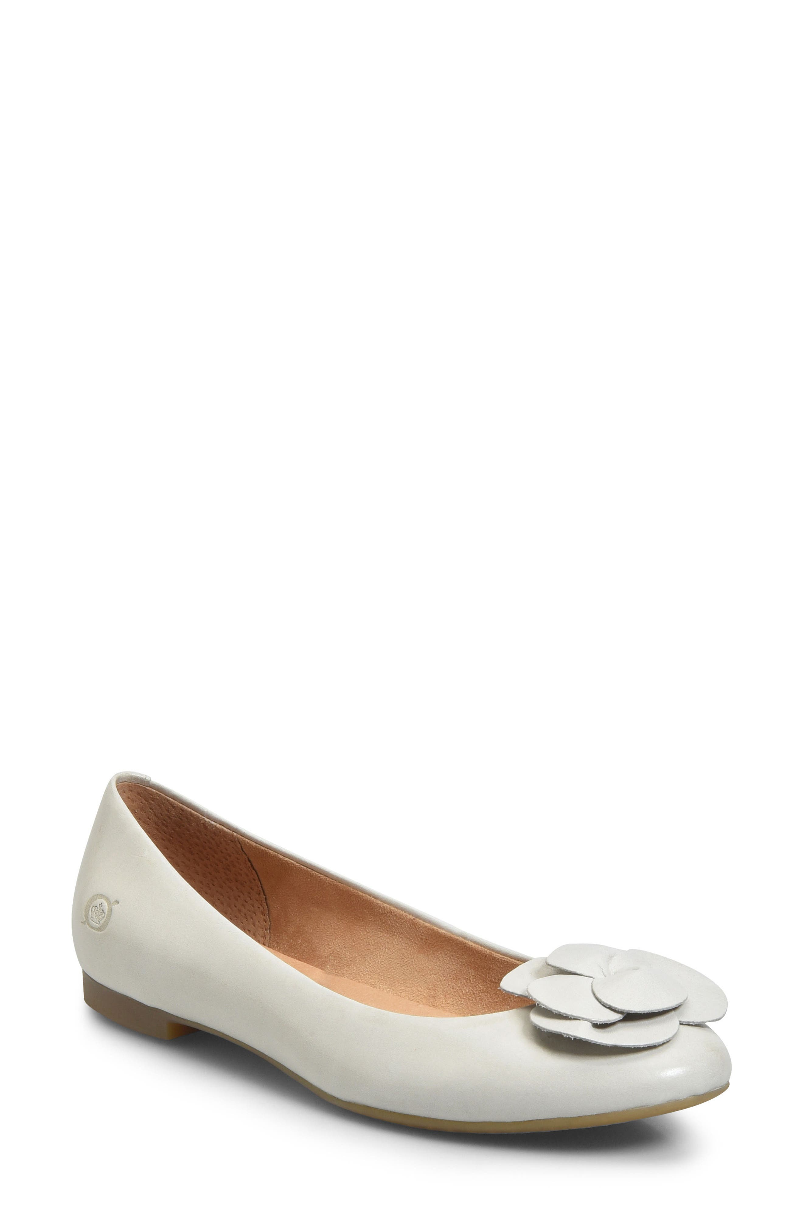 Annelie Flat,                             Main thumbnail 1, color,                             White Leather