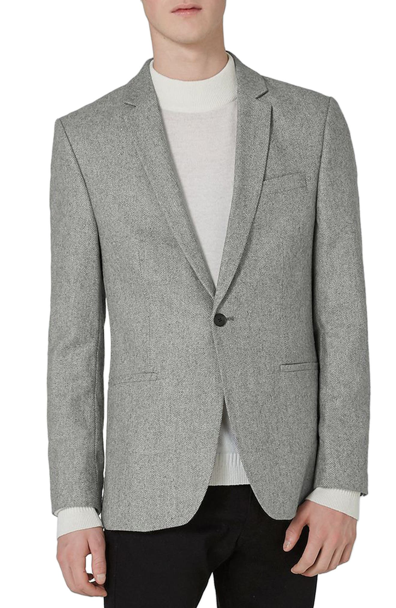 Main Image - Topman Slim Fit Smart Blazer