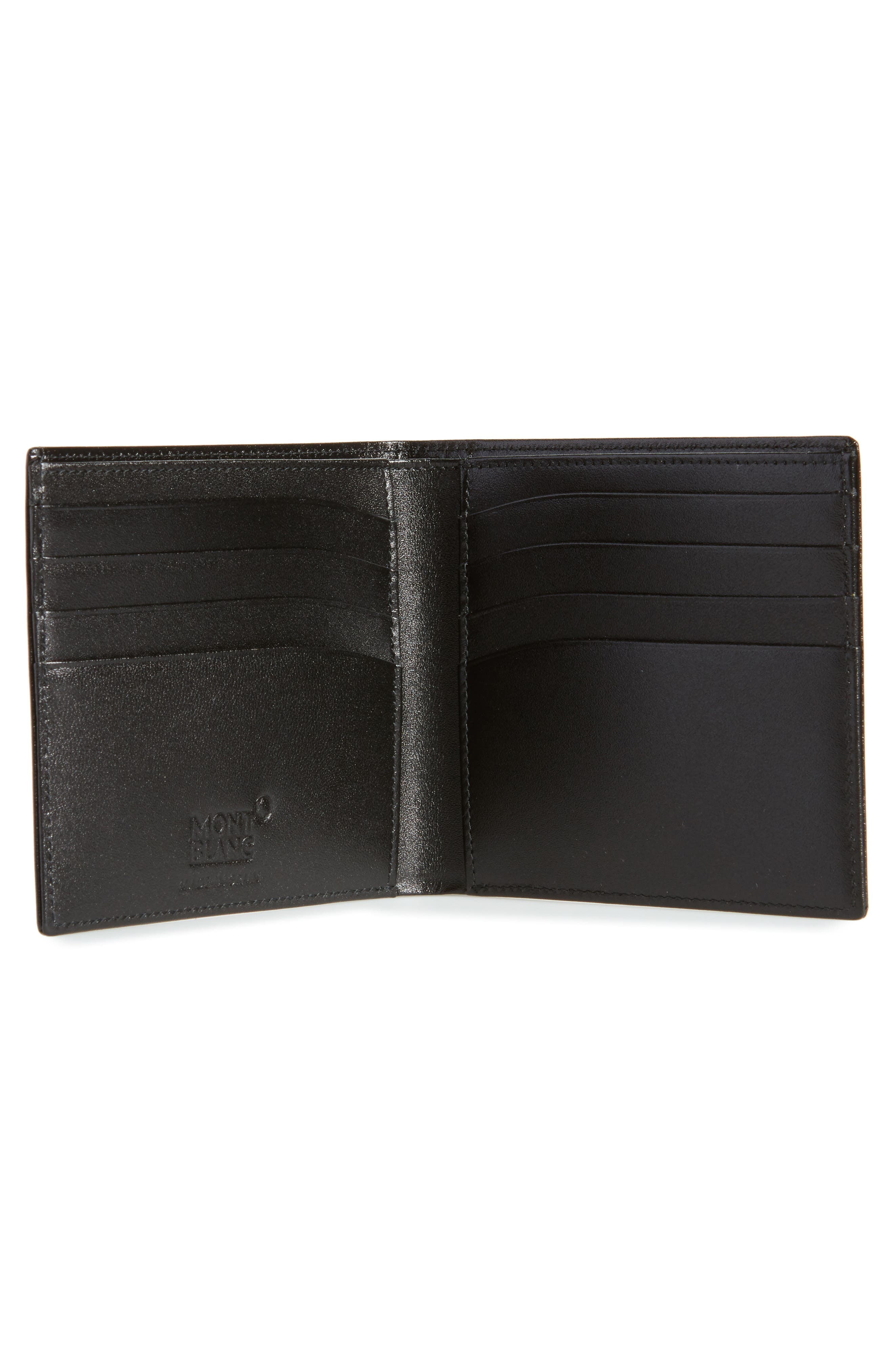 Meisterstück Leather Wallet,                             Alternate thumbnail 2, color,                             Black