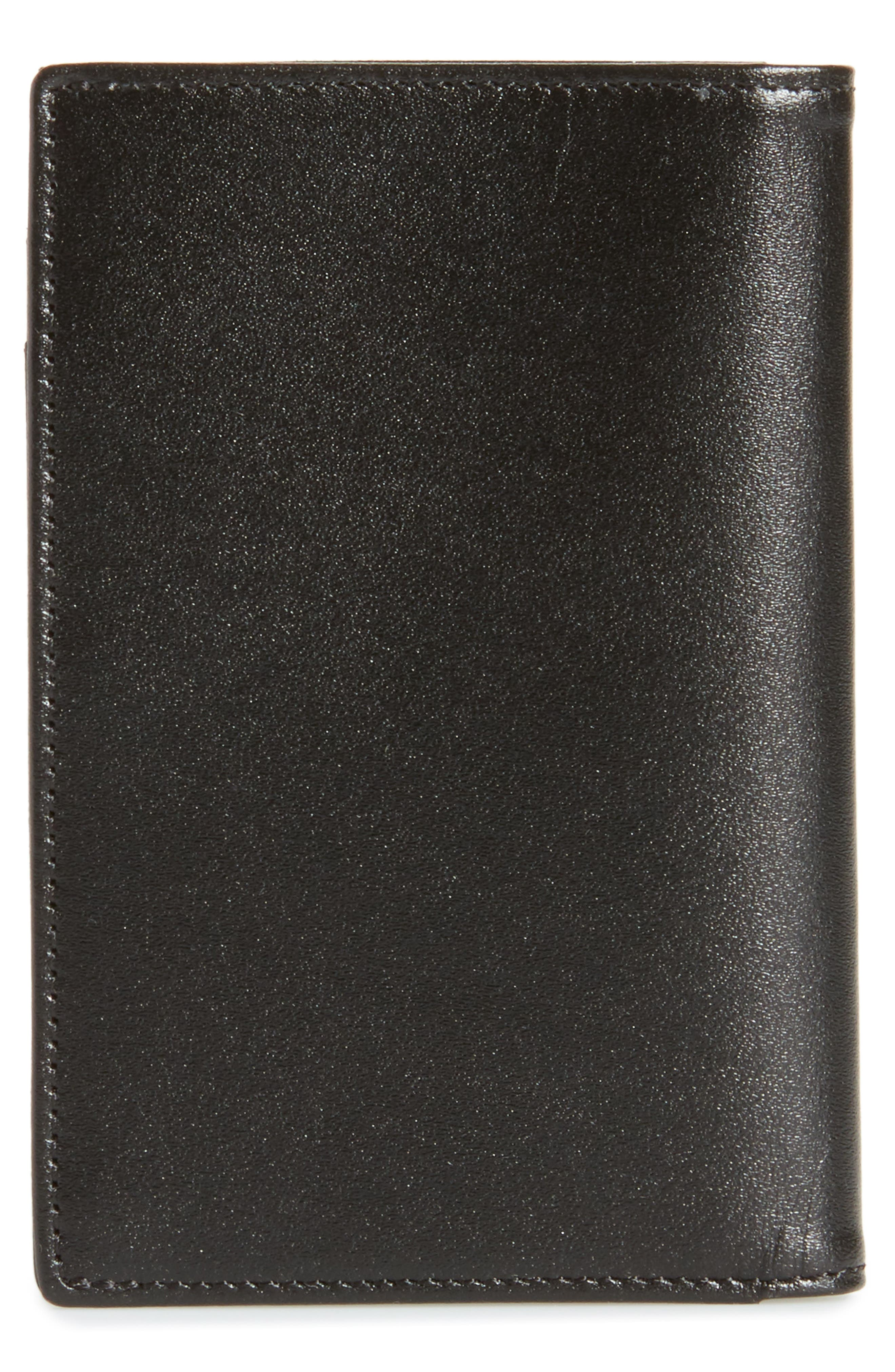Meisterstück Leather Card Case,                             Alternate thumbnail 3, color,                             Black