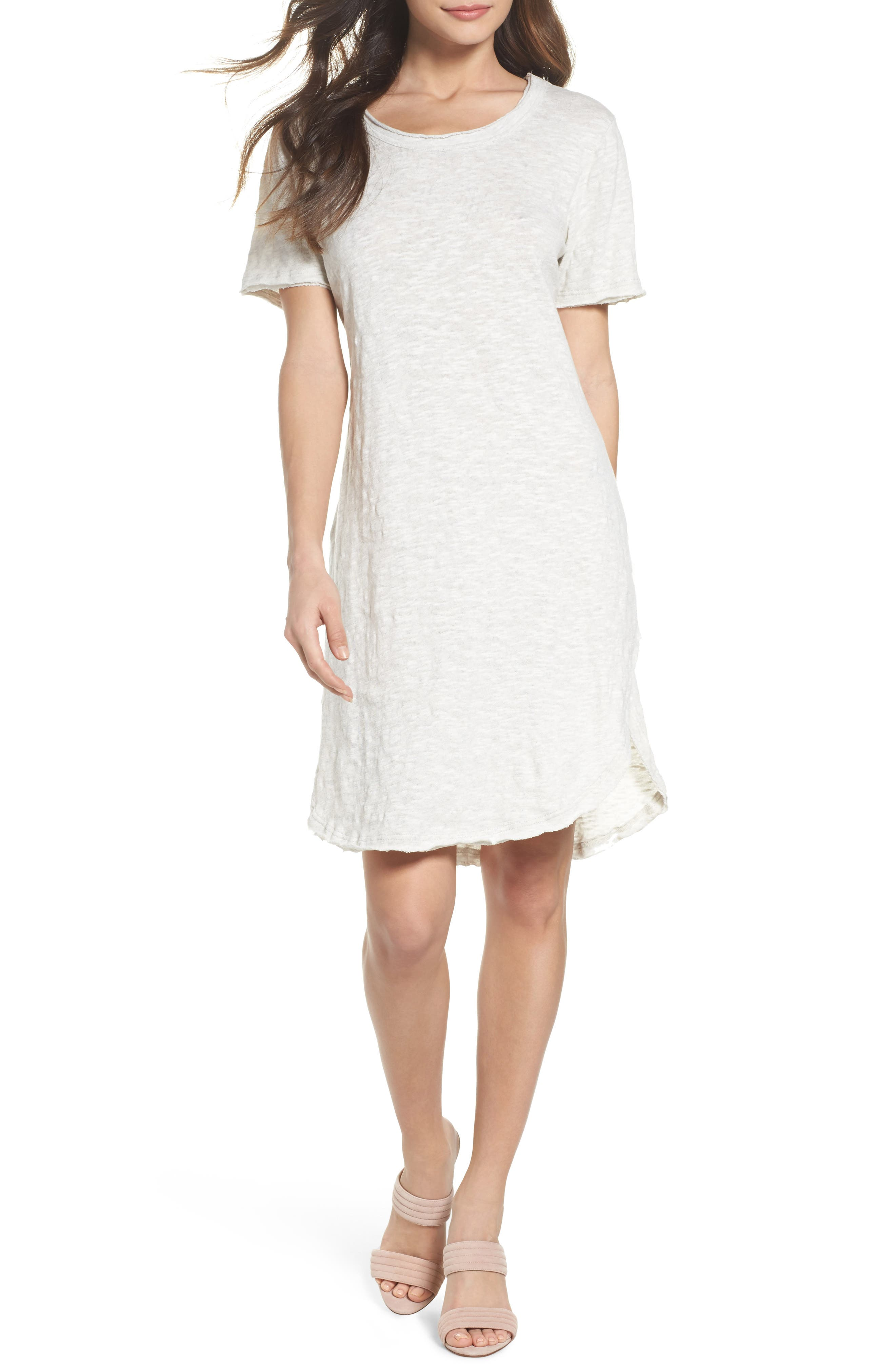 Hindi T-shirt dress,                             Main thumbnail 1, color,                             Cloud