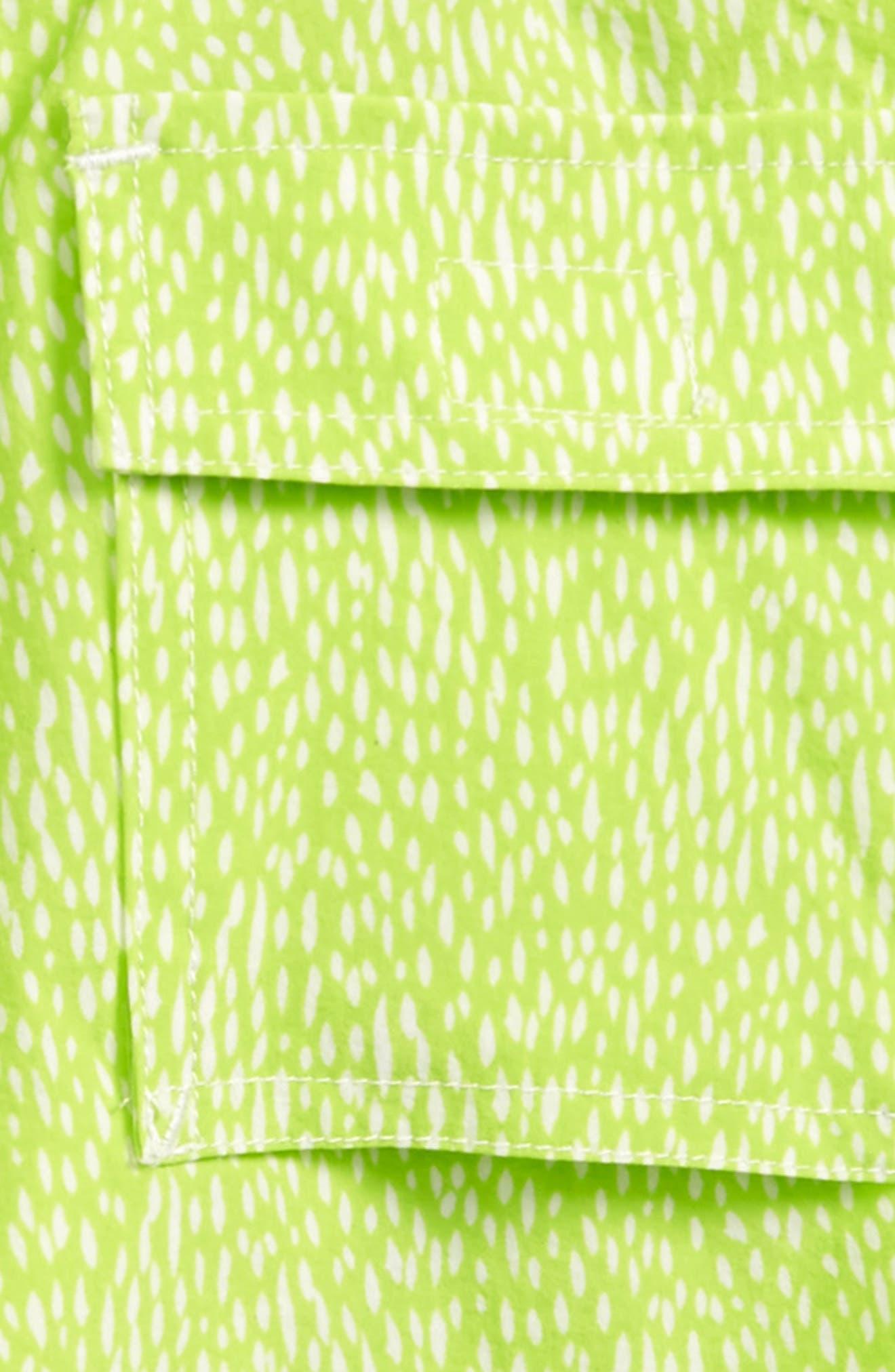 Dot Print Board Shorts,                             Alternate thumbnail 3, color,                             Citrine