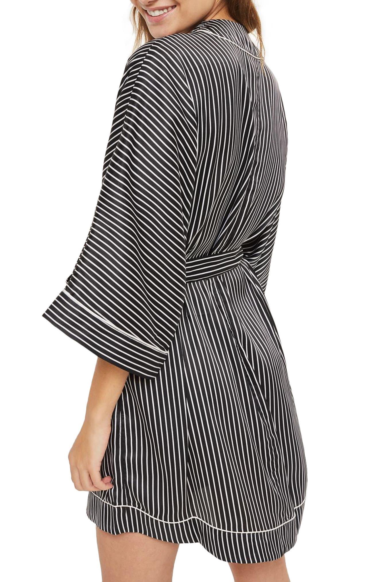 Alternate Image 2  - Topshop Stripe Satin Robe