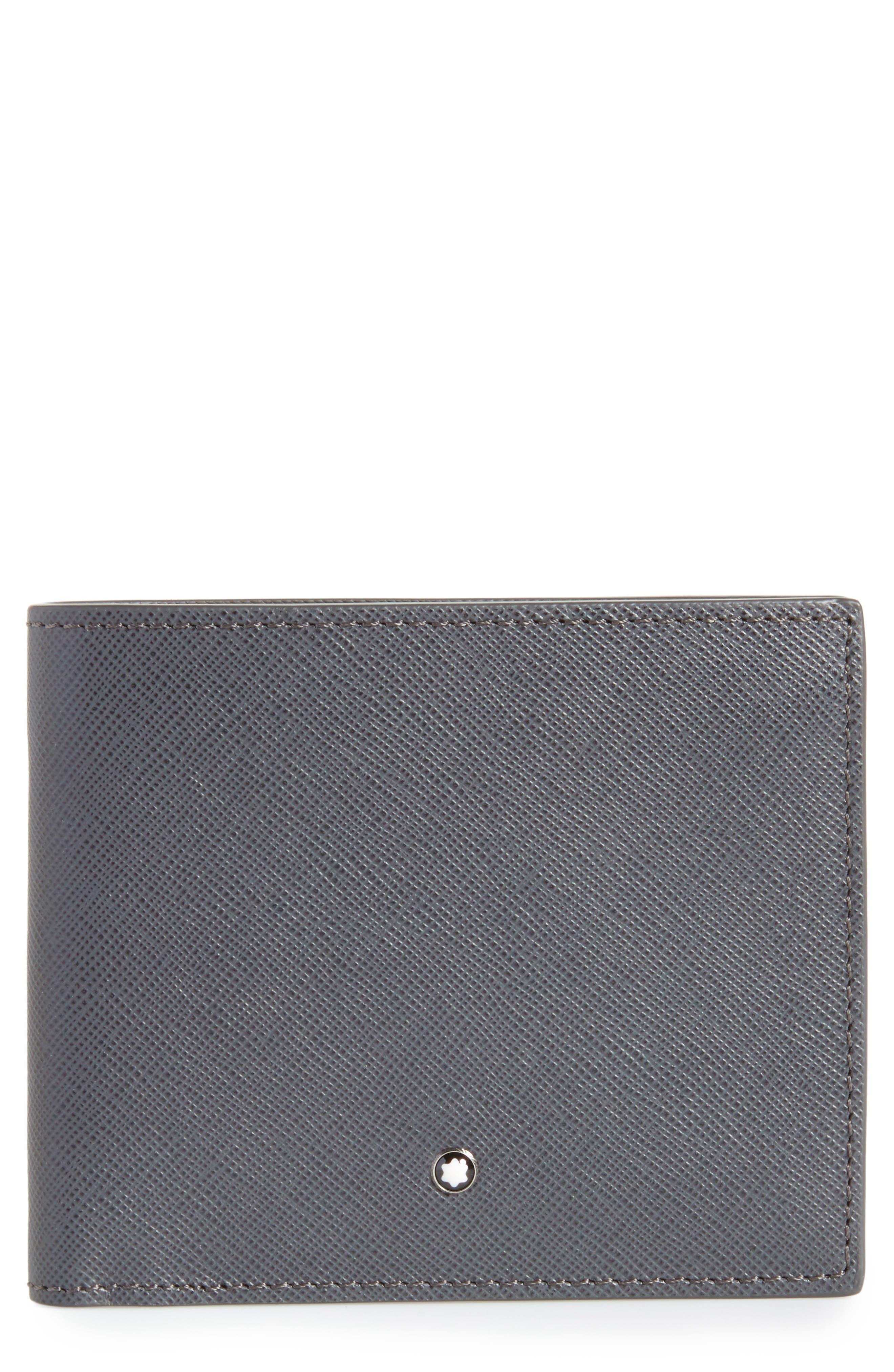 Sartorial Leather Bifold Wallet,                         Main,                         color, Dark Grey