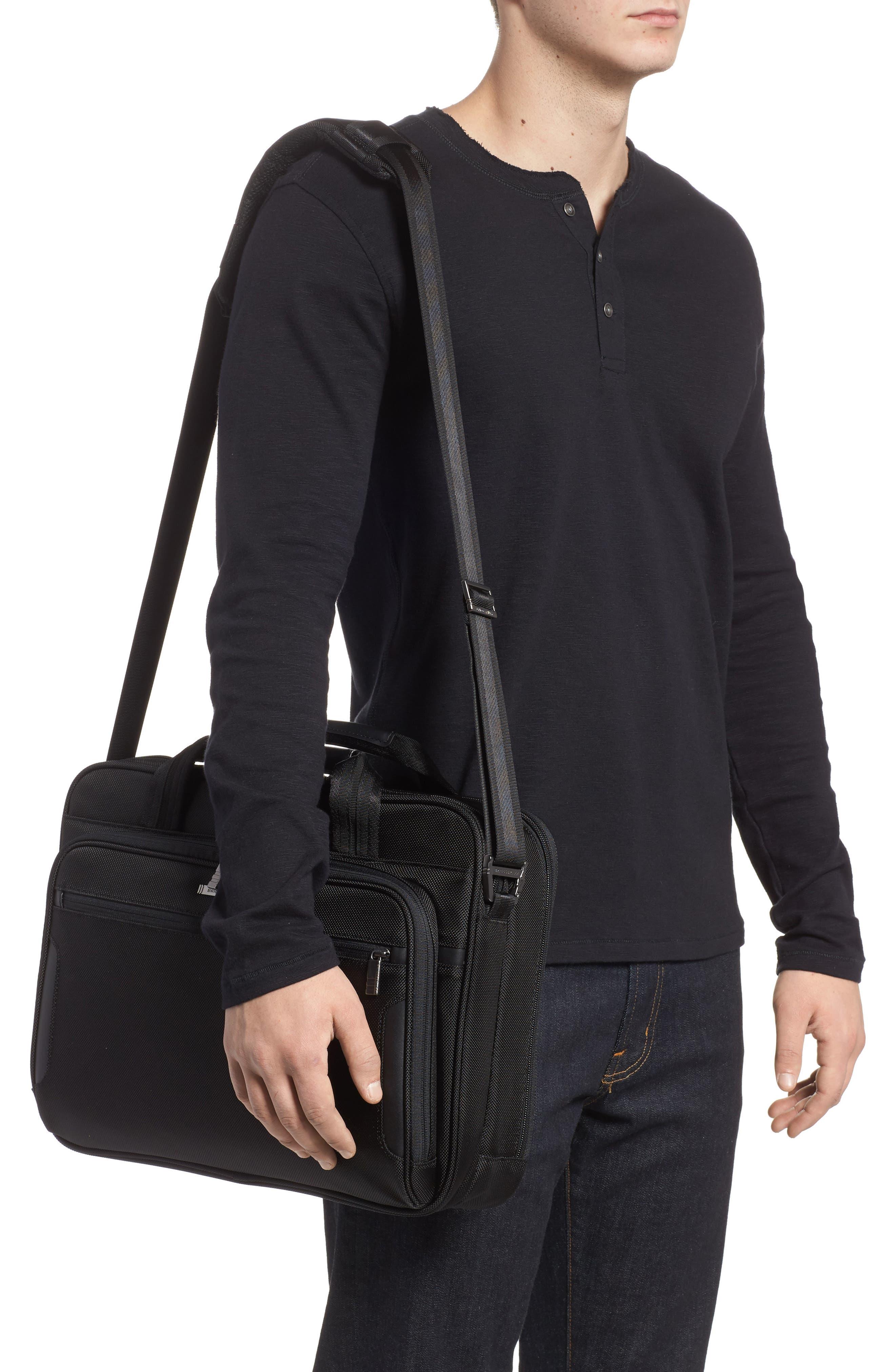 'Medium' Ballistic Nylon Briefcase,                             Alternate thumbnail 2, color,                             Black