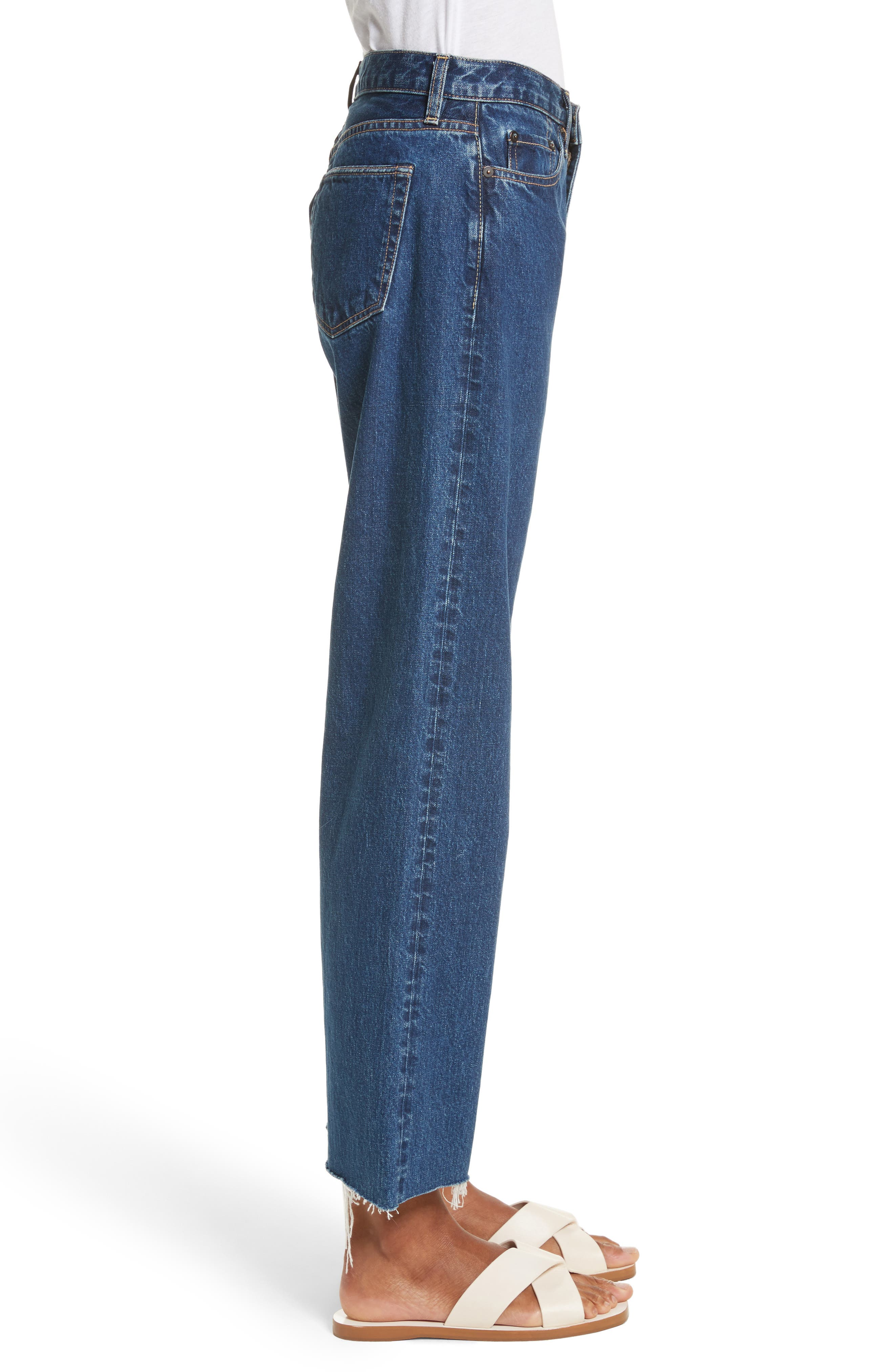 Toluca High Waist Wide Leg Jeans,                             Alternate thumbnail 3, color,                             Indigo