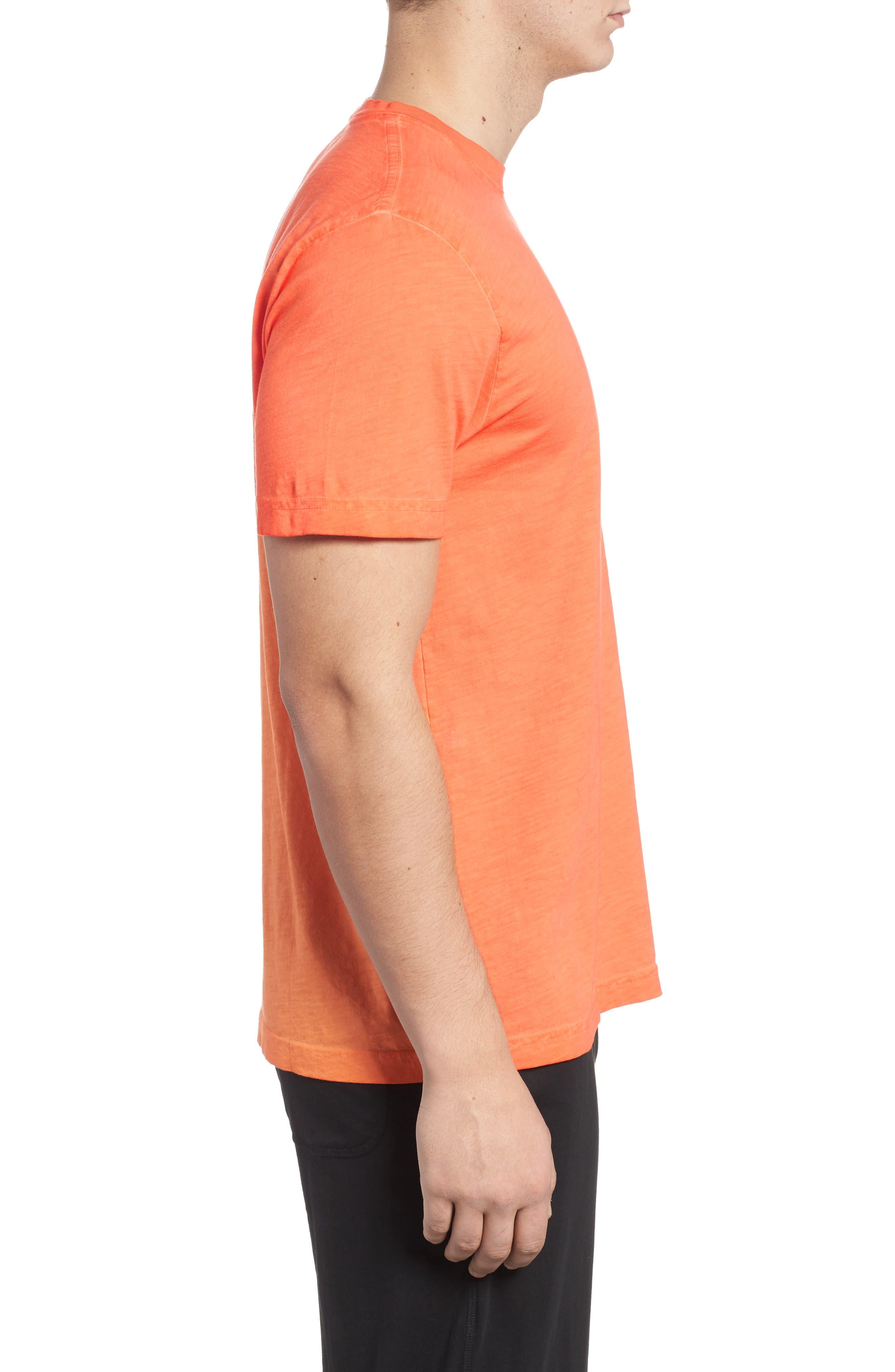 Sunwash Pocket T-Shirt,                             Alternate thumbnail 3, color,                             Mango