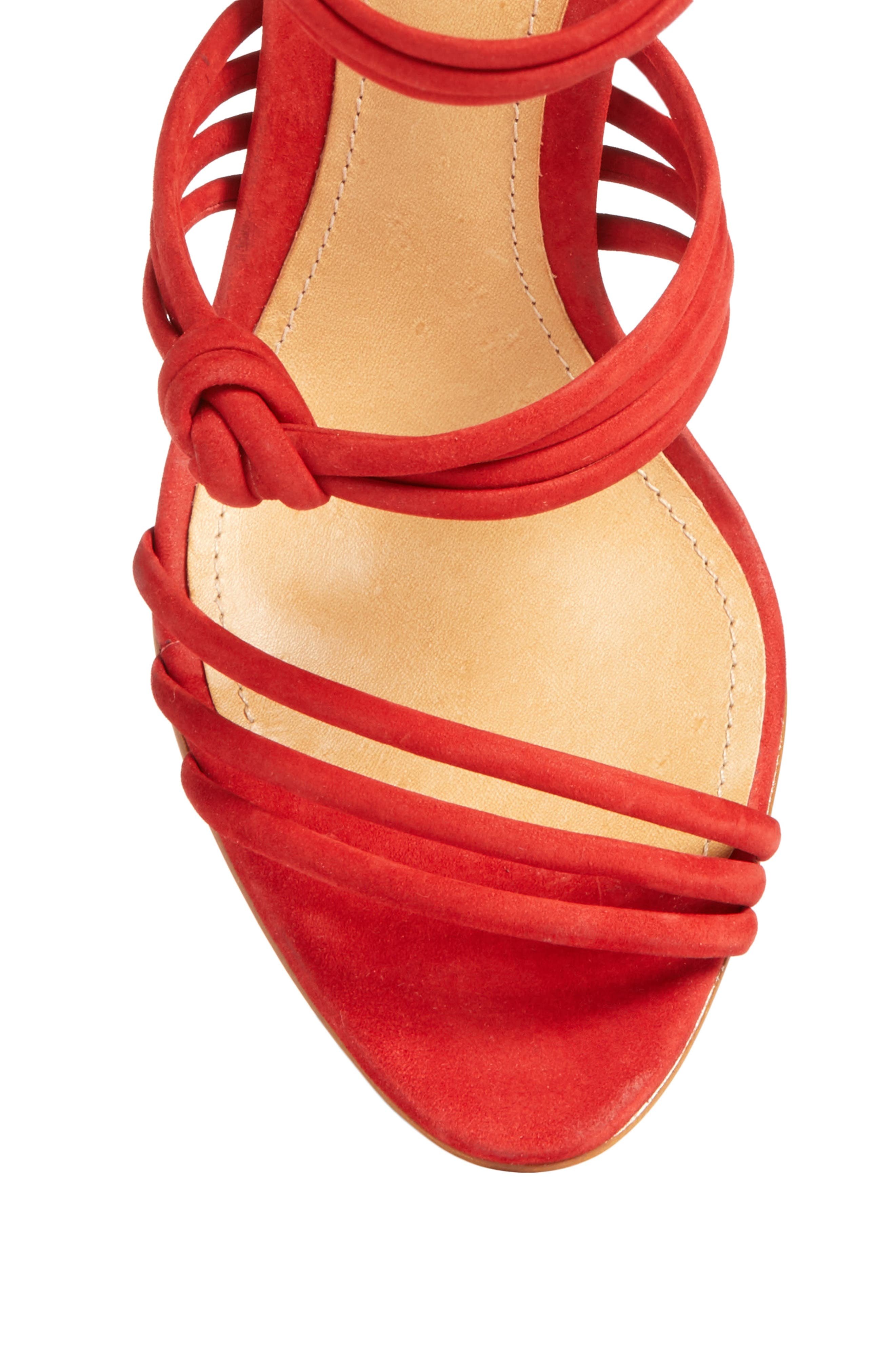 Suely Sandal,                             Alternate thumbnail 5, color,                             Tango Red