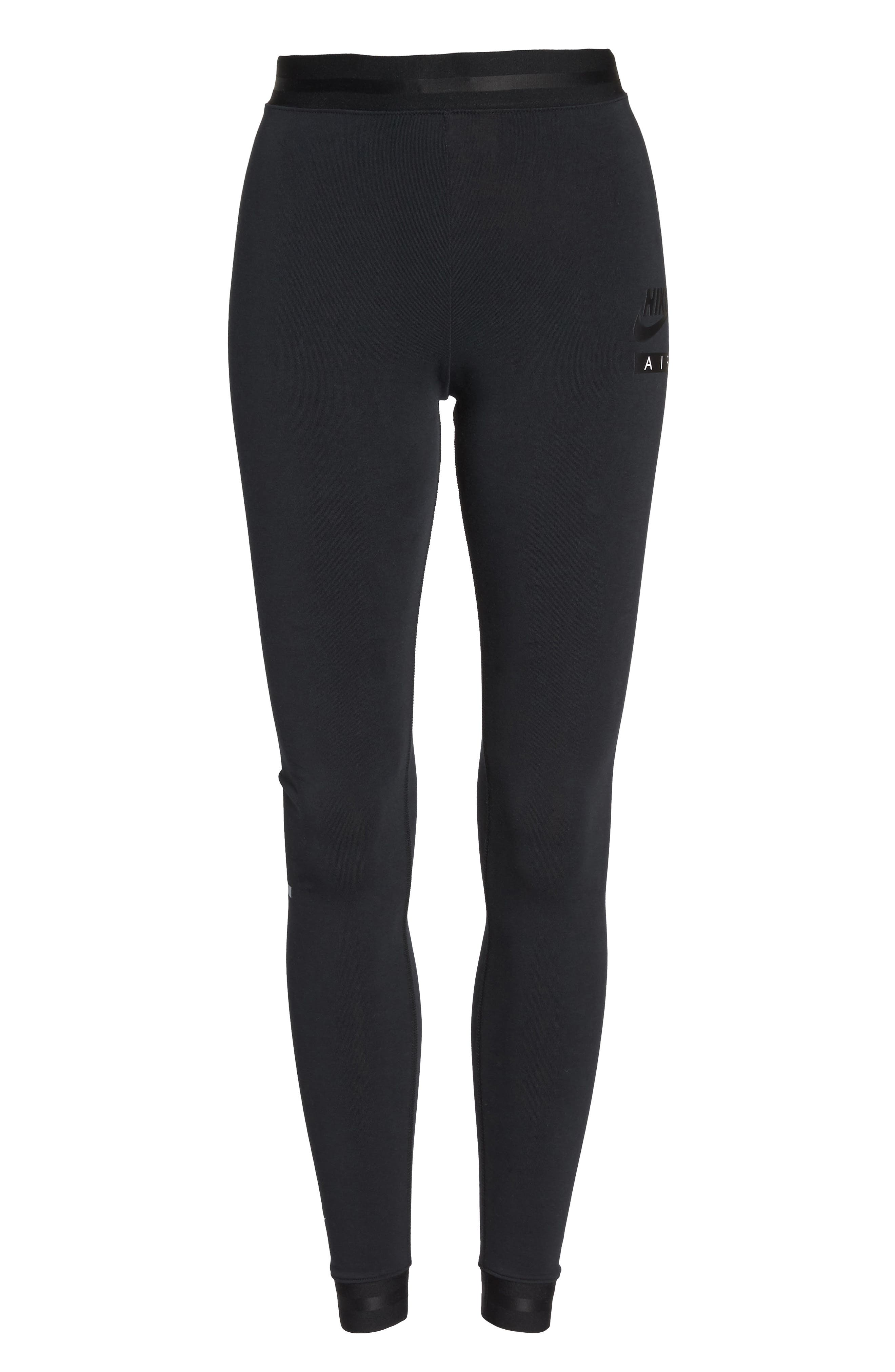 Sportswear Women's Leggings,                             Alternate thumbnail 7, color,                             Black/ Black/ Black