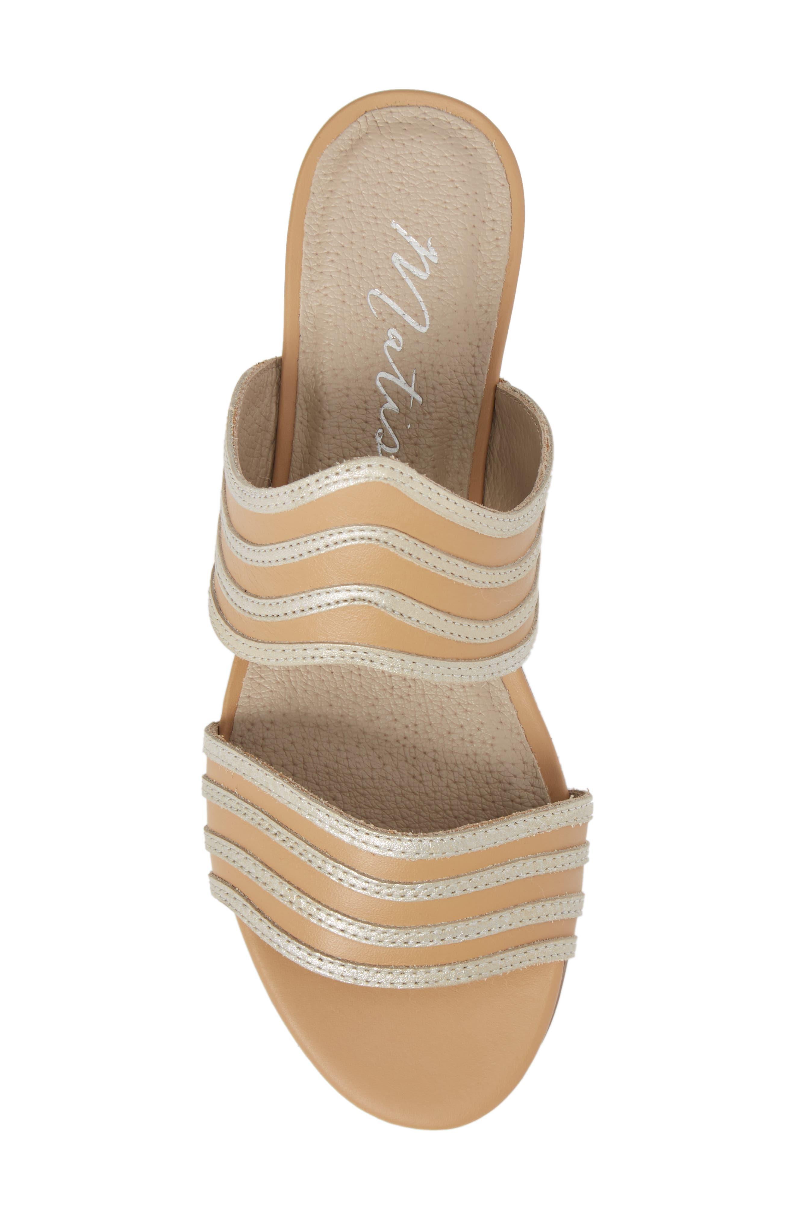 Russo Slide Sandal,                             Alternate thumbnail 5, color,                             Natural/ Silver Leather