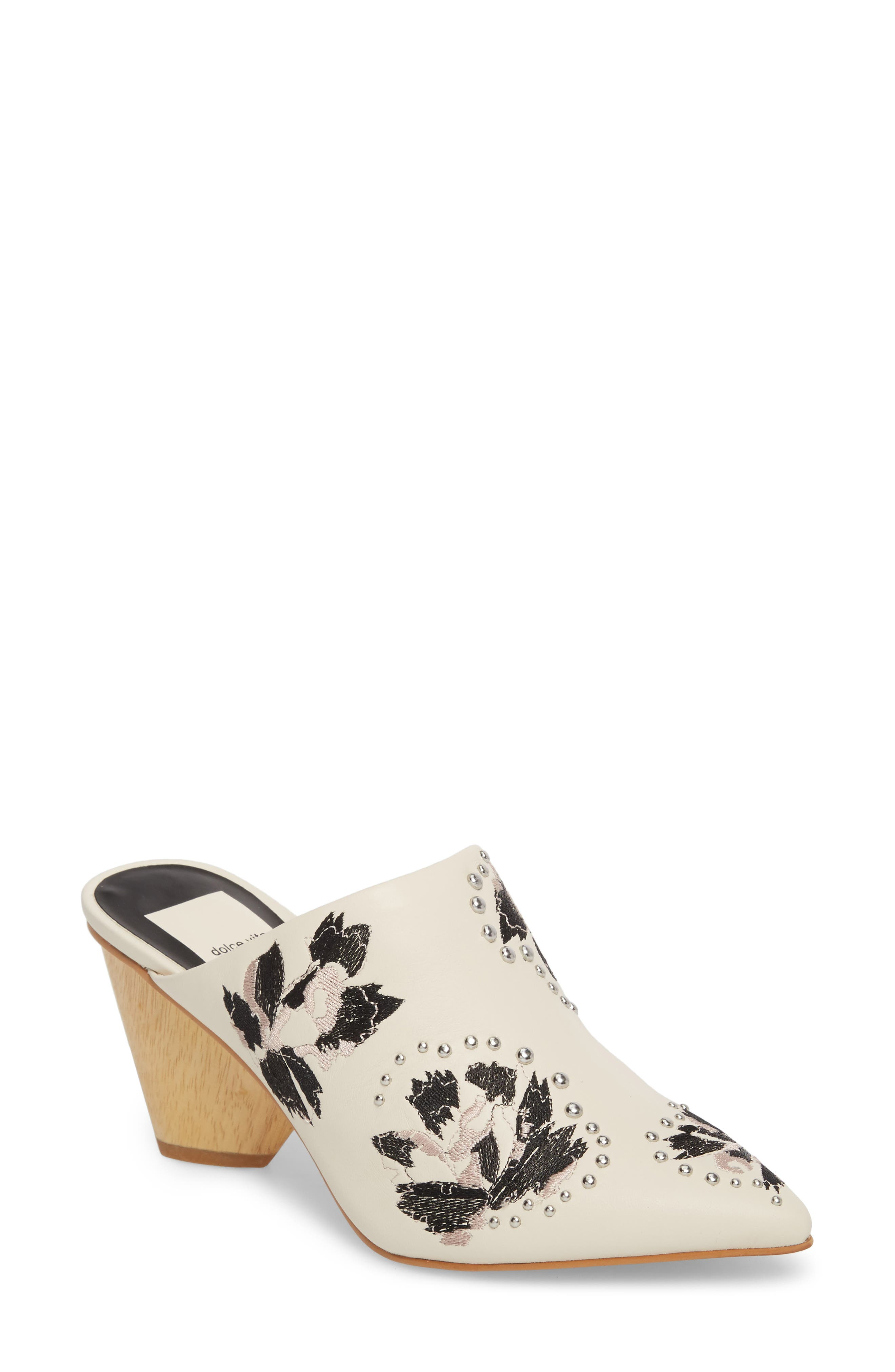Asia Mule,                         Main,                         color, Ivory Leather