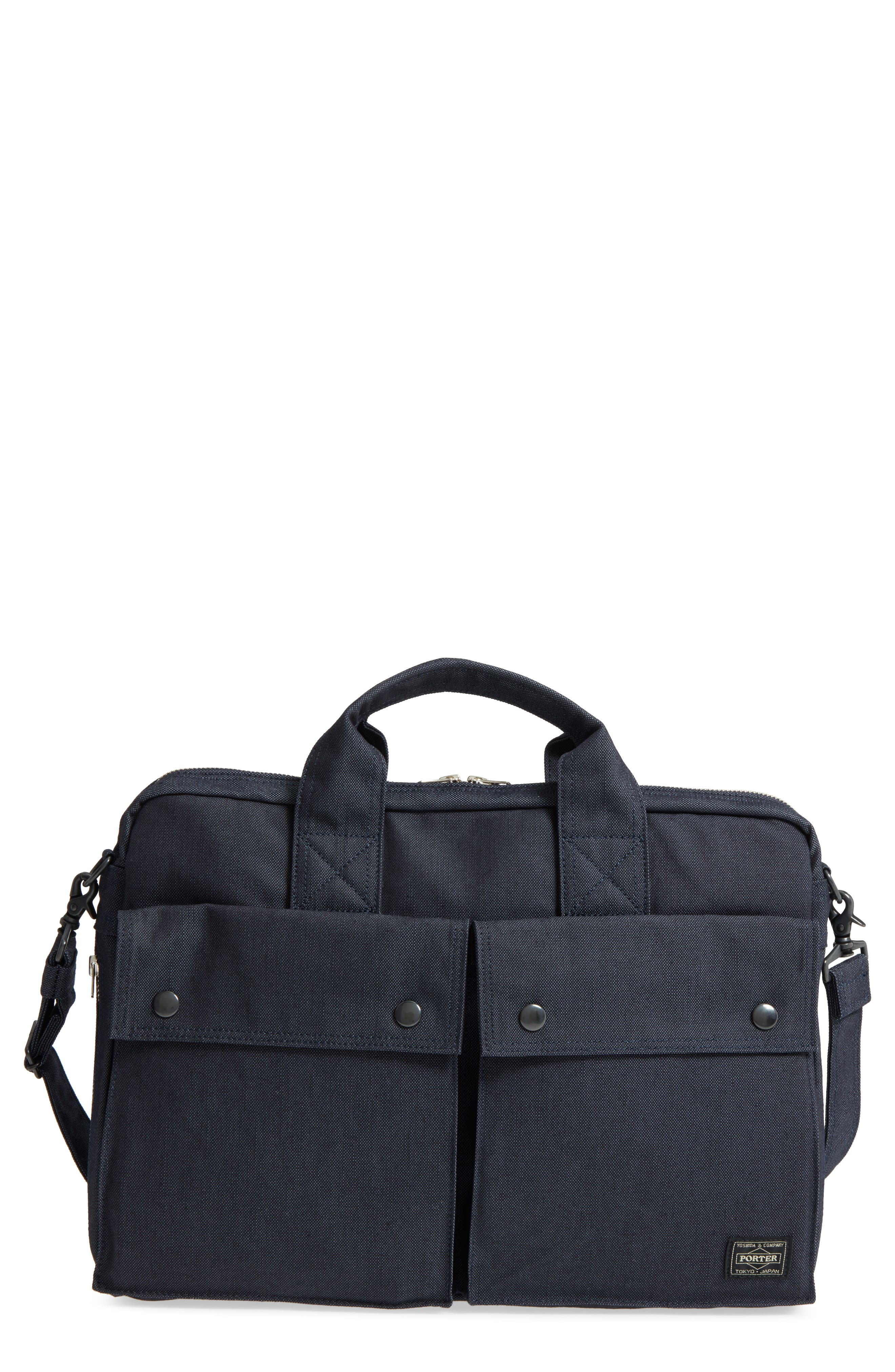 Porter-Yoshida & Co. Smoky Two-Way Briefcase,                             Main thumbnail 1, color,                             Navy