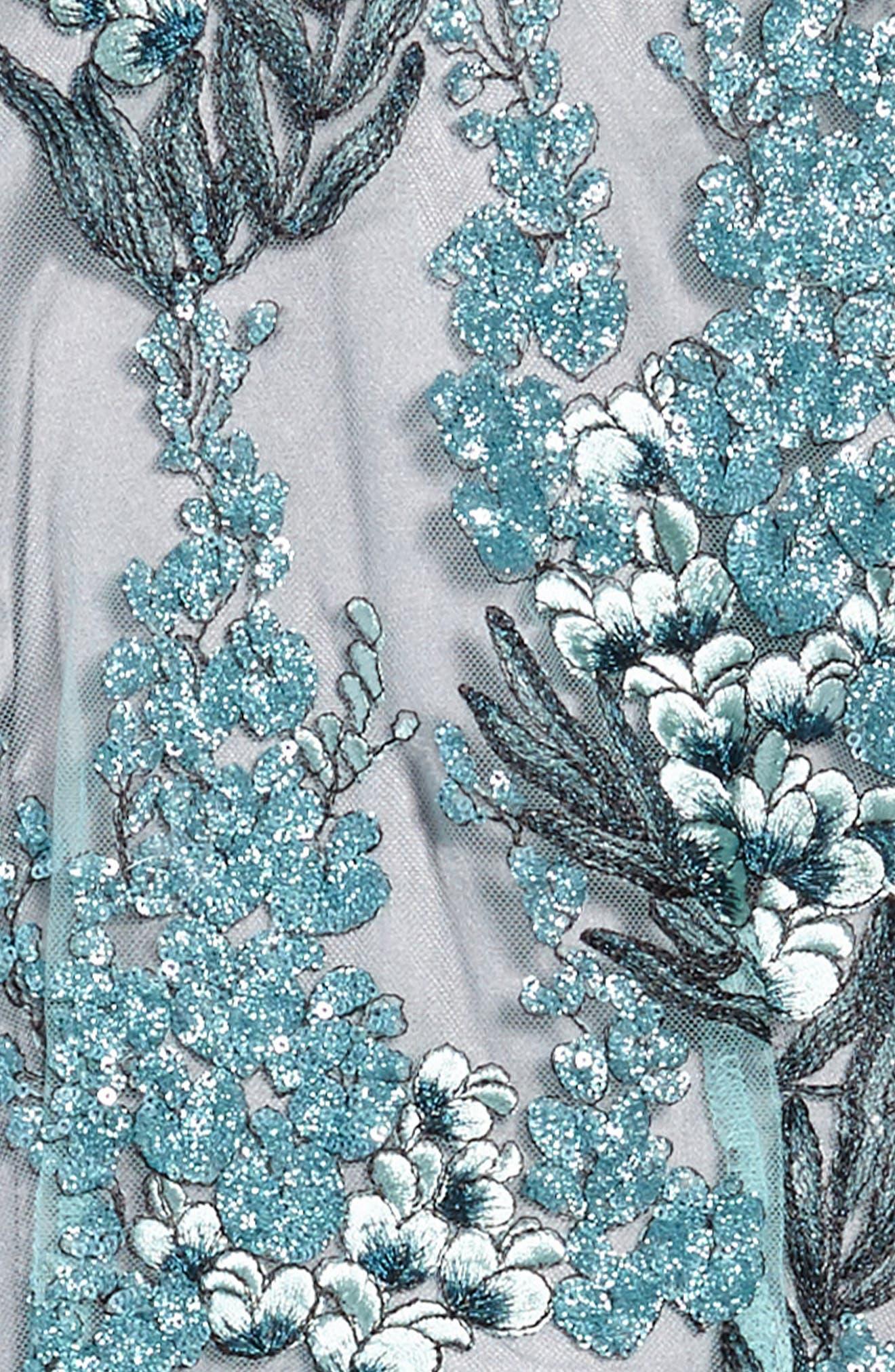 Ruby Sequin Sleeveless Dress,                             Alternate thumbnail 3, color,                             Grey
