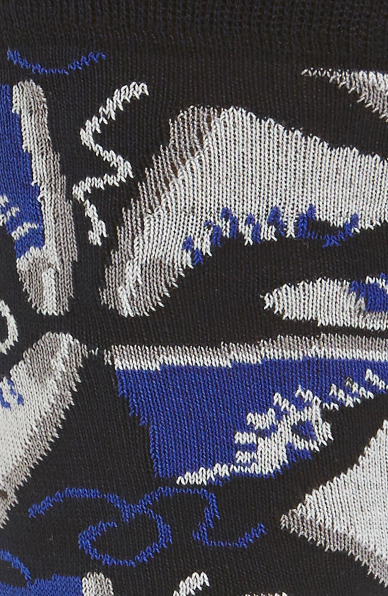 Sneaker Patterned Socks,                             Alternate thumbnail 2, color,                             Classic Blue