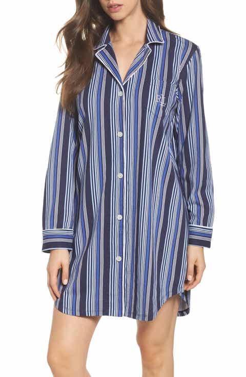 Lauren Ralph Lauren Stripe Sleep Shirt Top Reviews