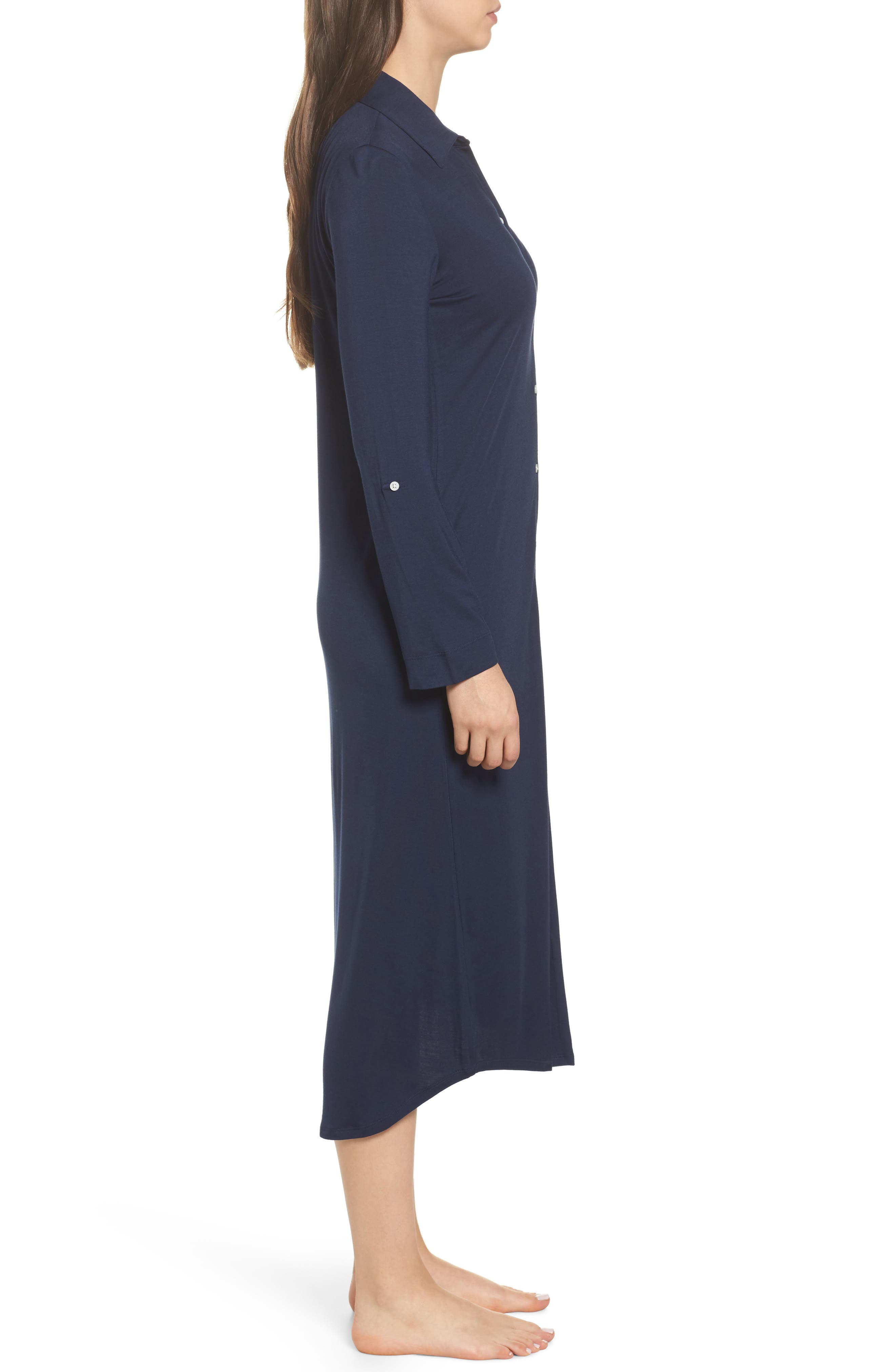 Ballet Long Nightgown,                             Alternate thumbnail 3, color,                             Spring Navy