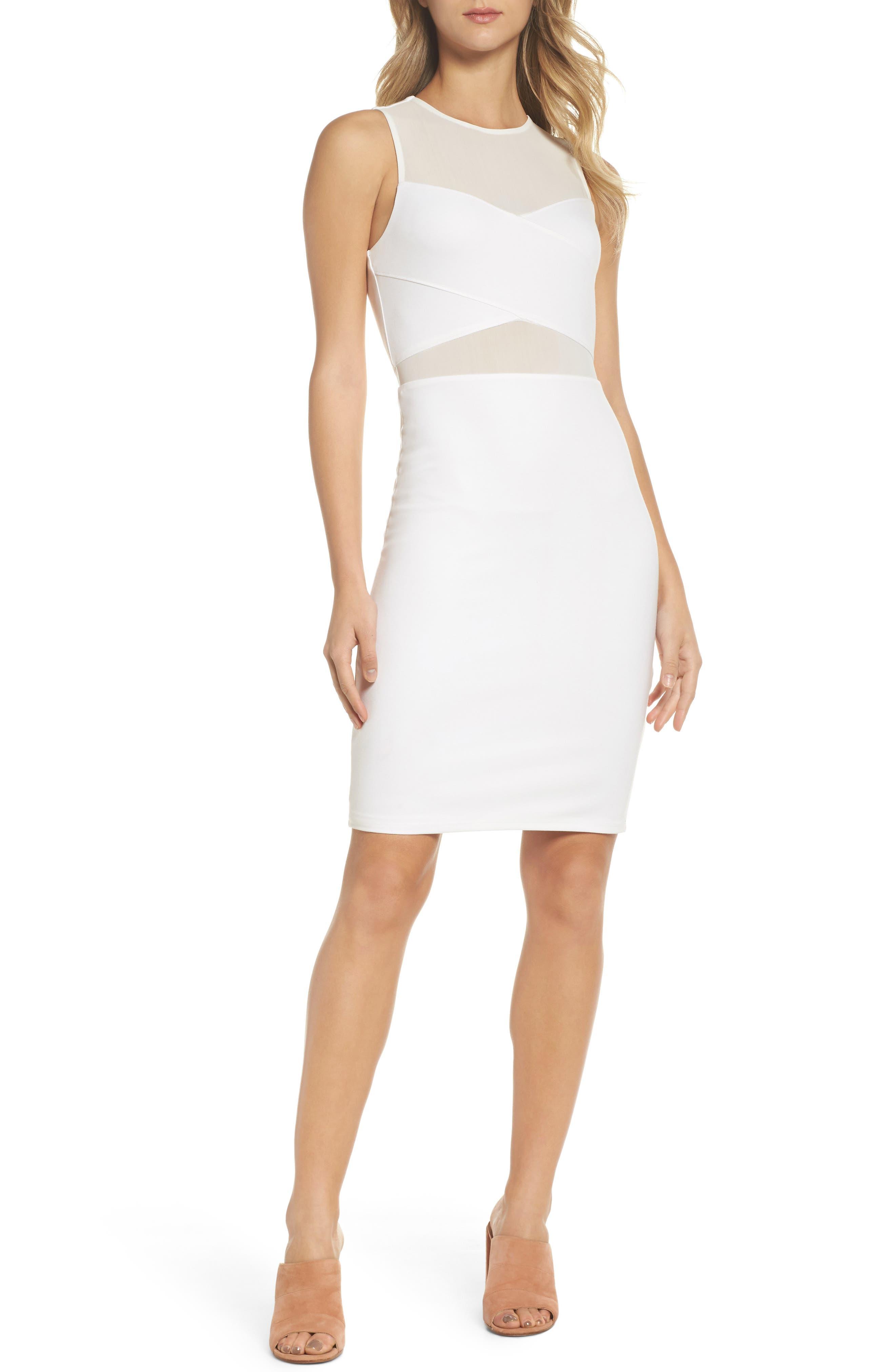 Nowhere To Run Sheath Dress,                         Main,                         color, Ivory