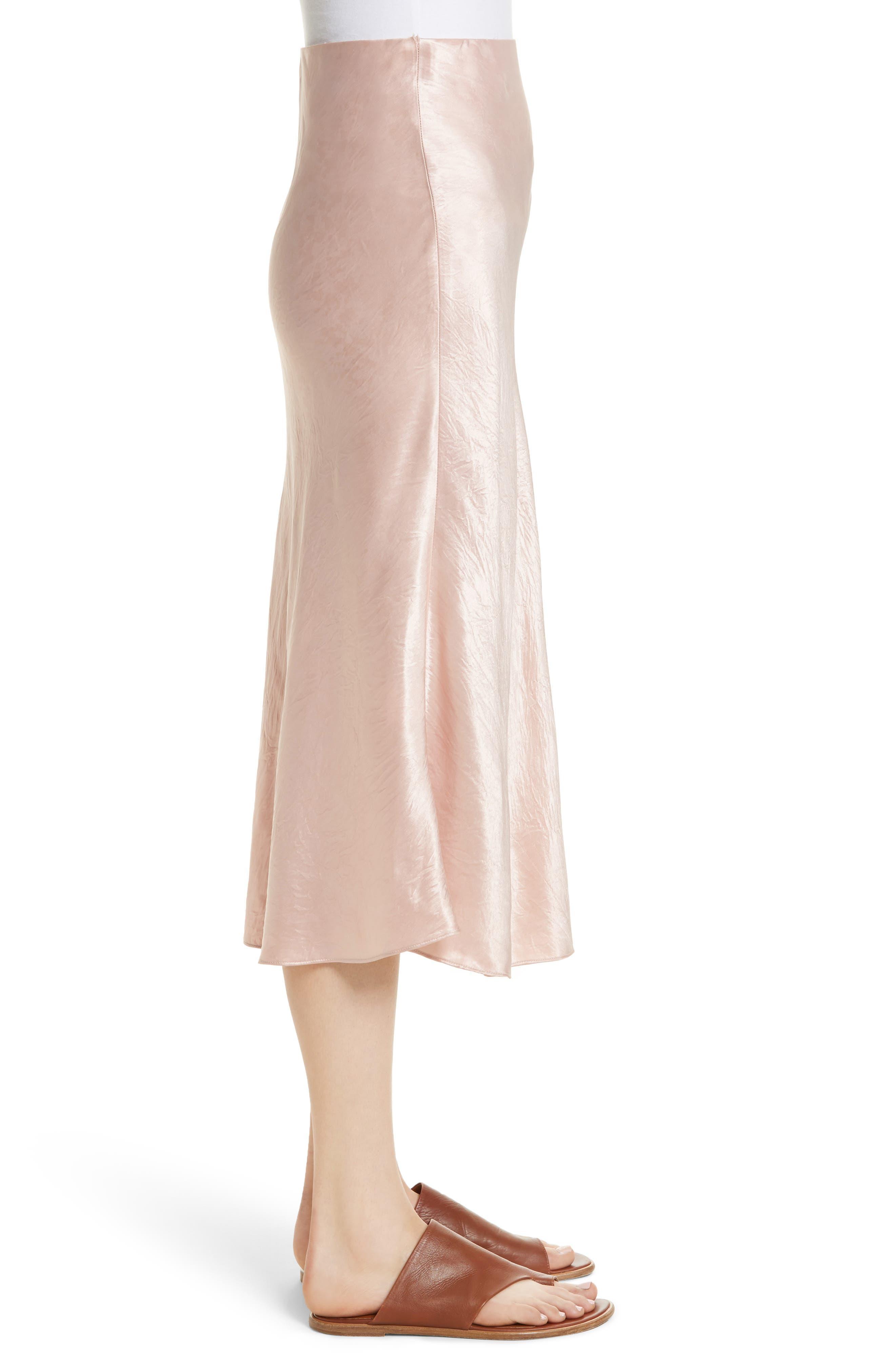 Satin Slip Skirt,                             Alternate thumbnail 3, color,                             Tulip
