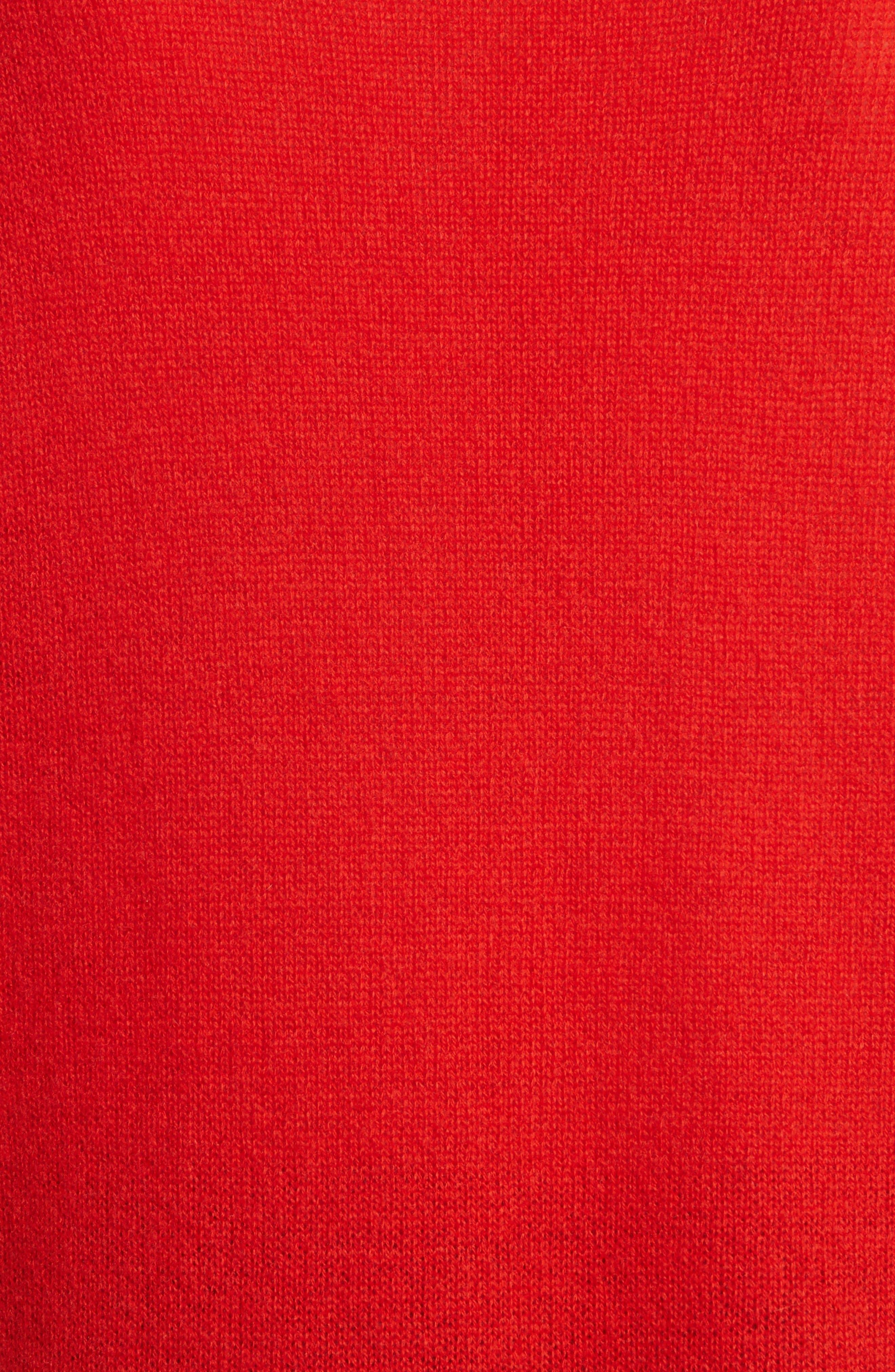 Karenia L Cashmere Sweater,                             Alternate thumbnail 5, color,                             Bight Tomato