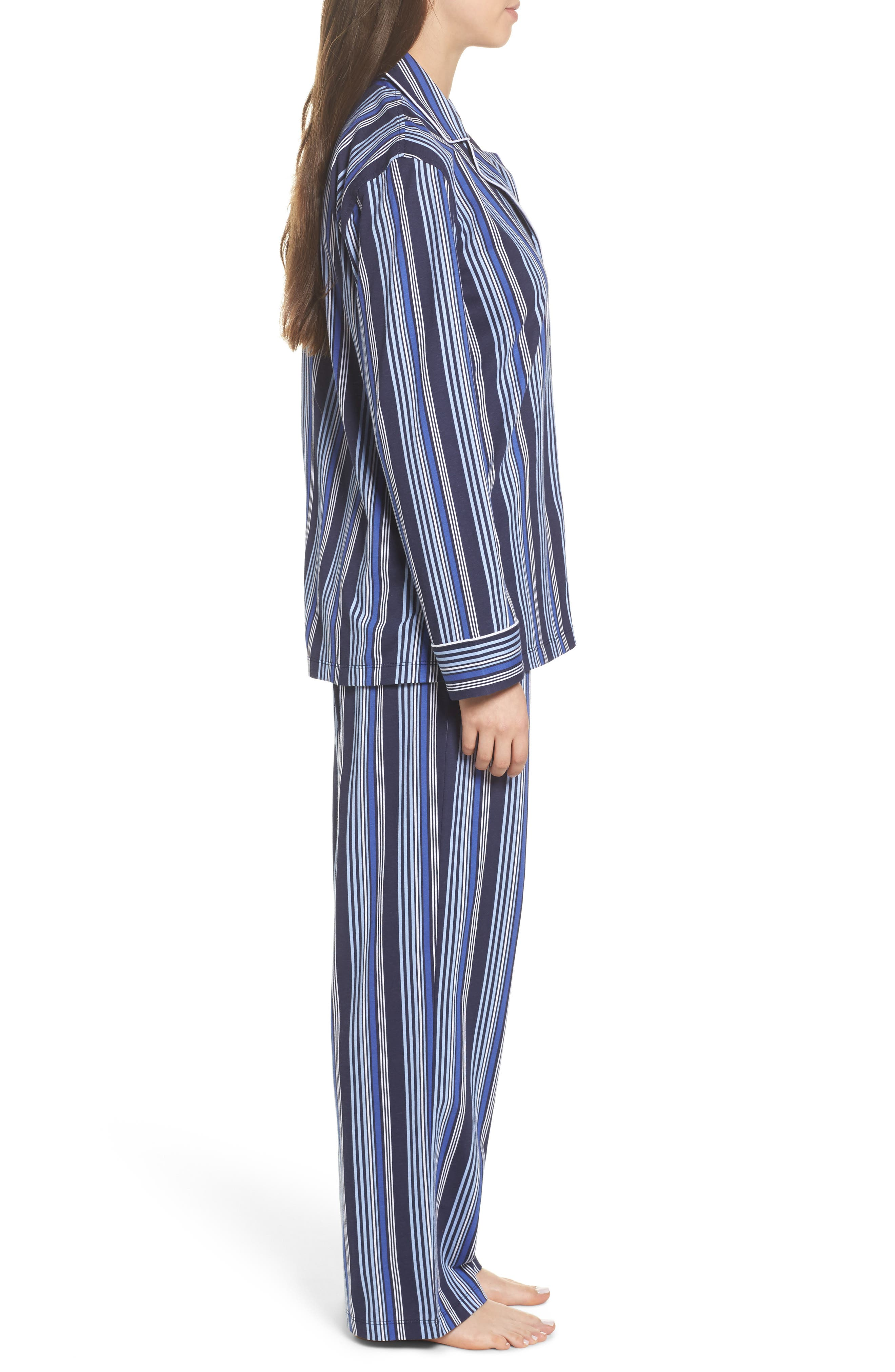 Cotton Pajamas,                             Alternate thumbnail 3, color,                             Blue Stripe