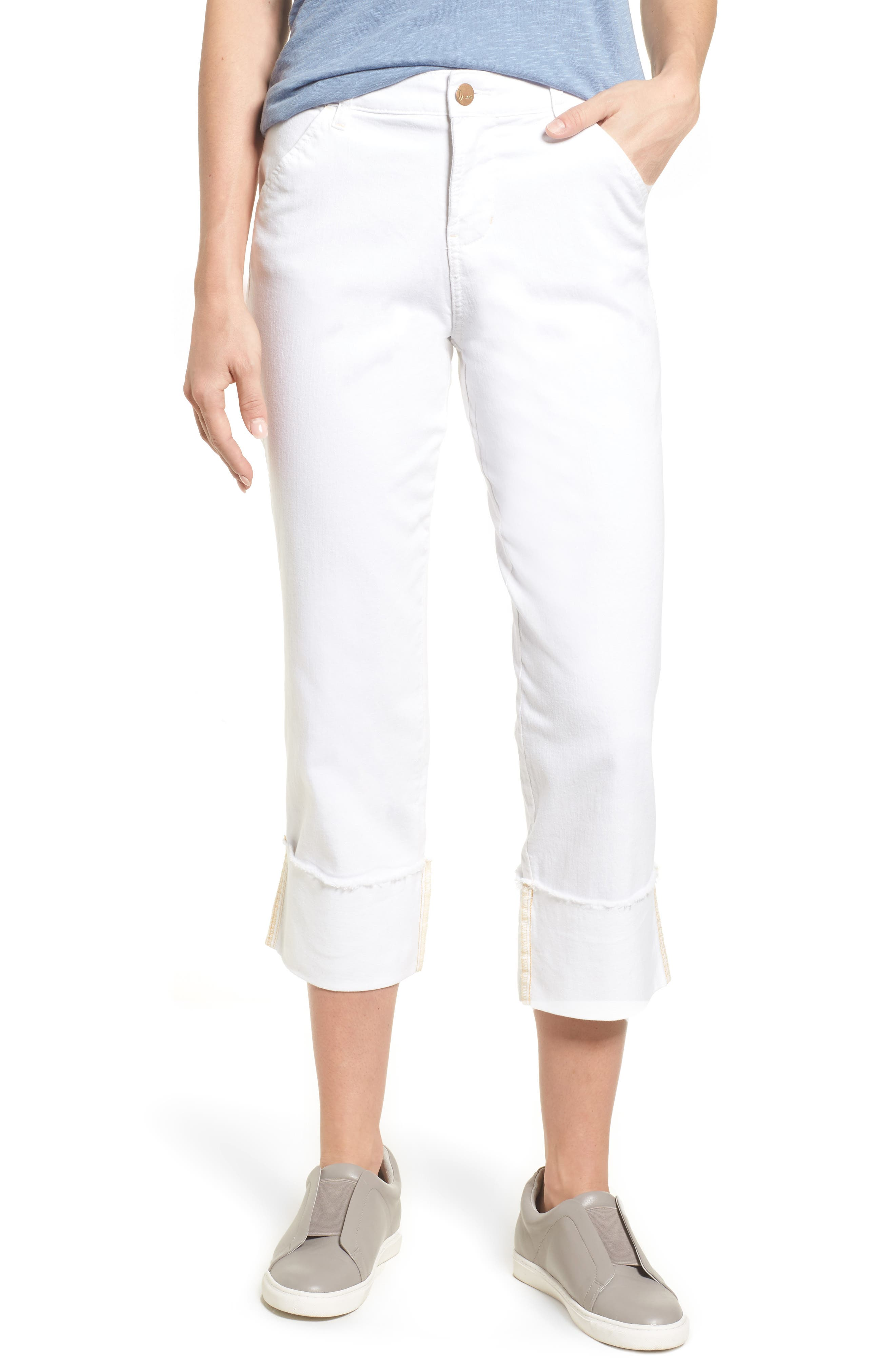 Jag Jeans Eden Wide Cuff Crop Jeans