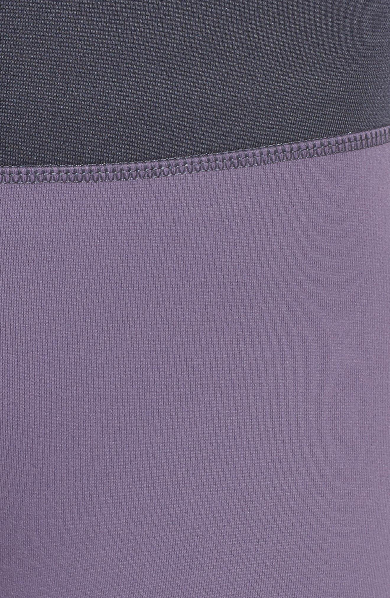Around the Block High Waist Ankle Leggings,                             Alternate thumbnail 6, color,                             Purple Cadet
