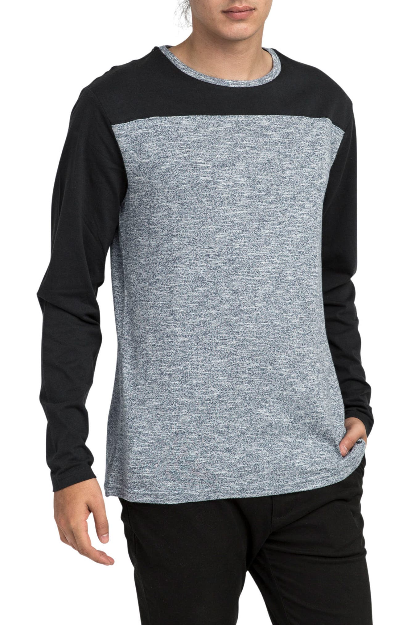 Coast to Coast Colorblock T-Shirt,                             Main thumbnail 1, color,                             Black