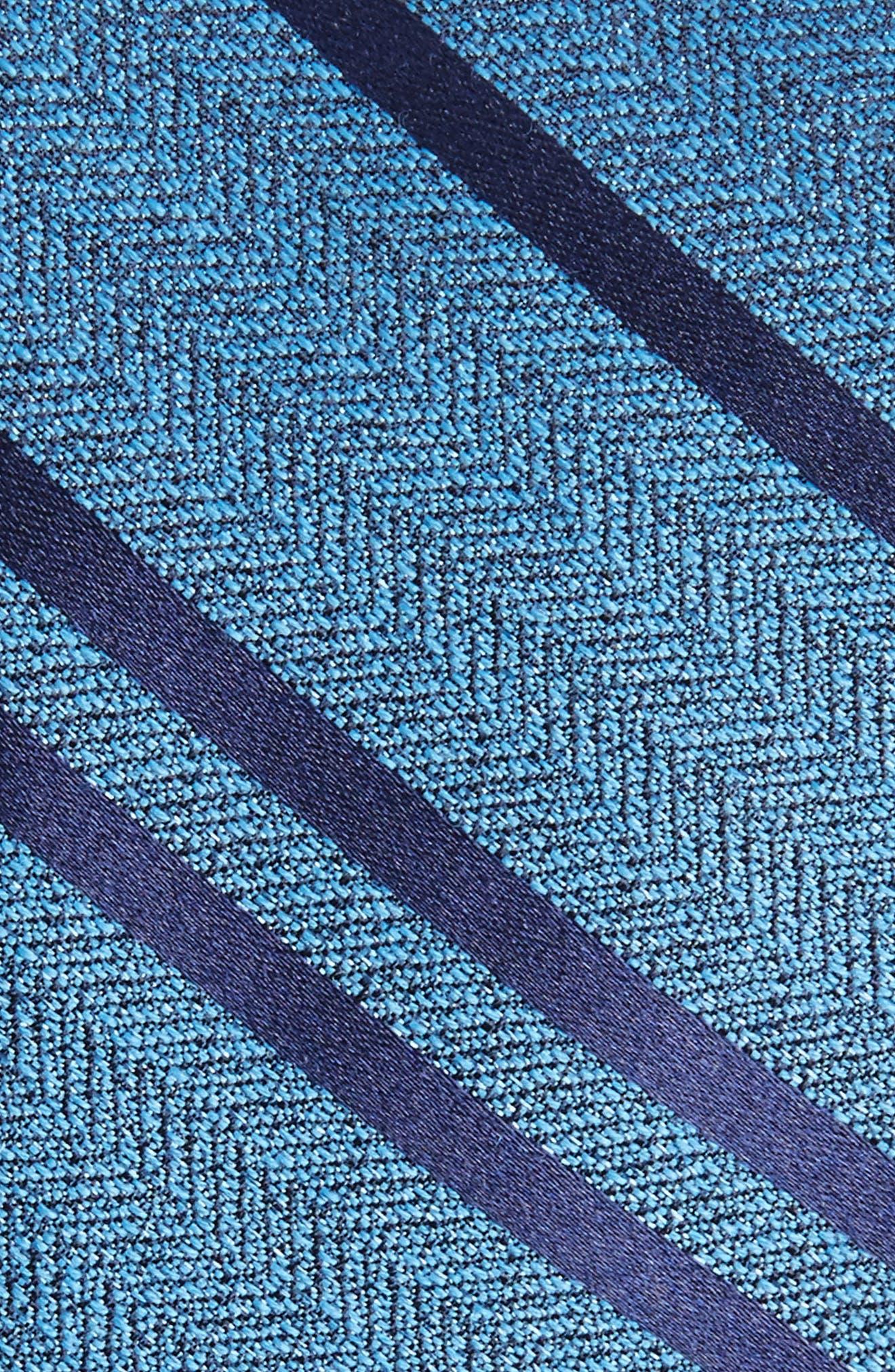 Path Stripe Wool & Silk Tie,                             Alternate thumbnail 2, color,                             Serene Blue